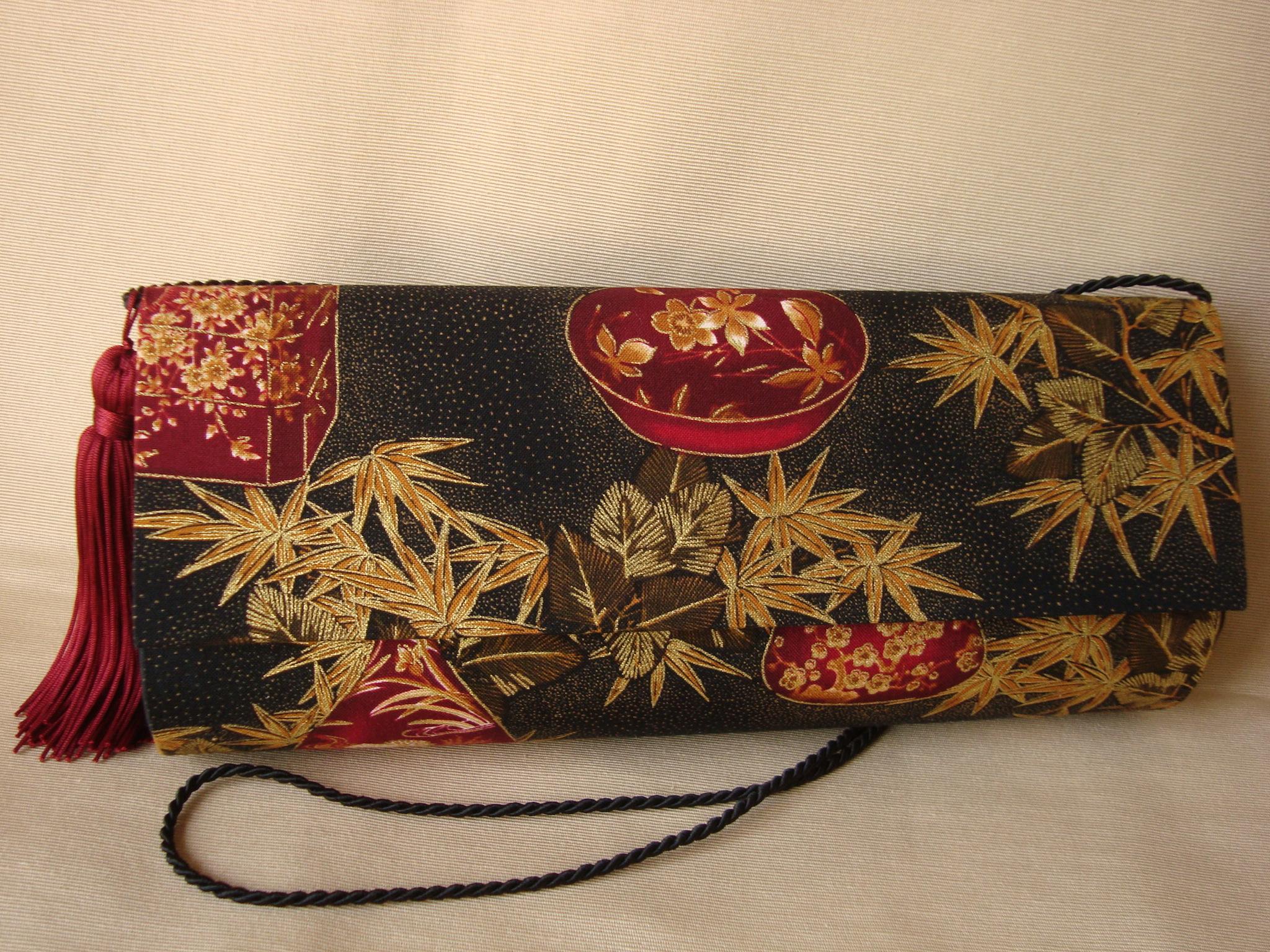 Bolsa De Tecido Forrada : Bolsa oriental maria cl?udia artesanato elo