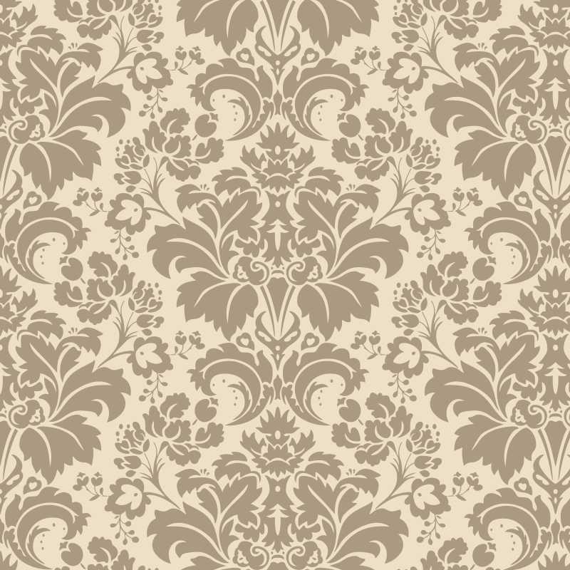 Papel de parede vintage floral 20 jmi decor elo7 for Papel de pared dorado