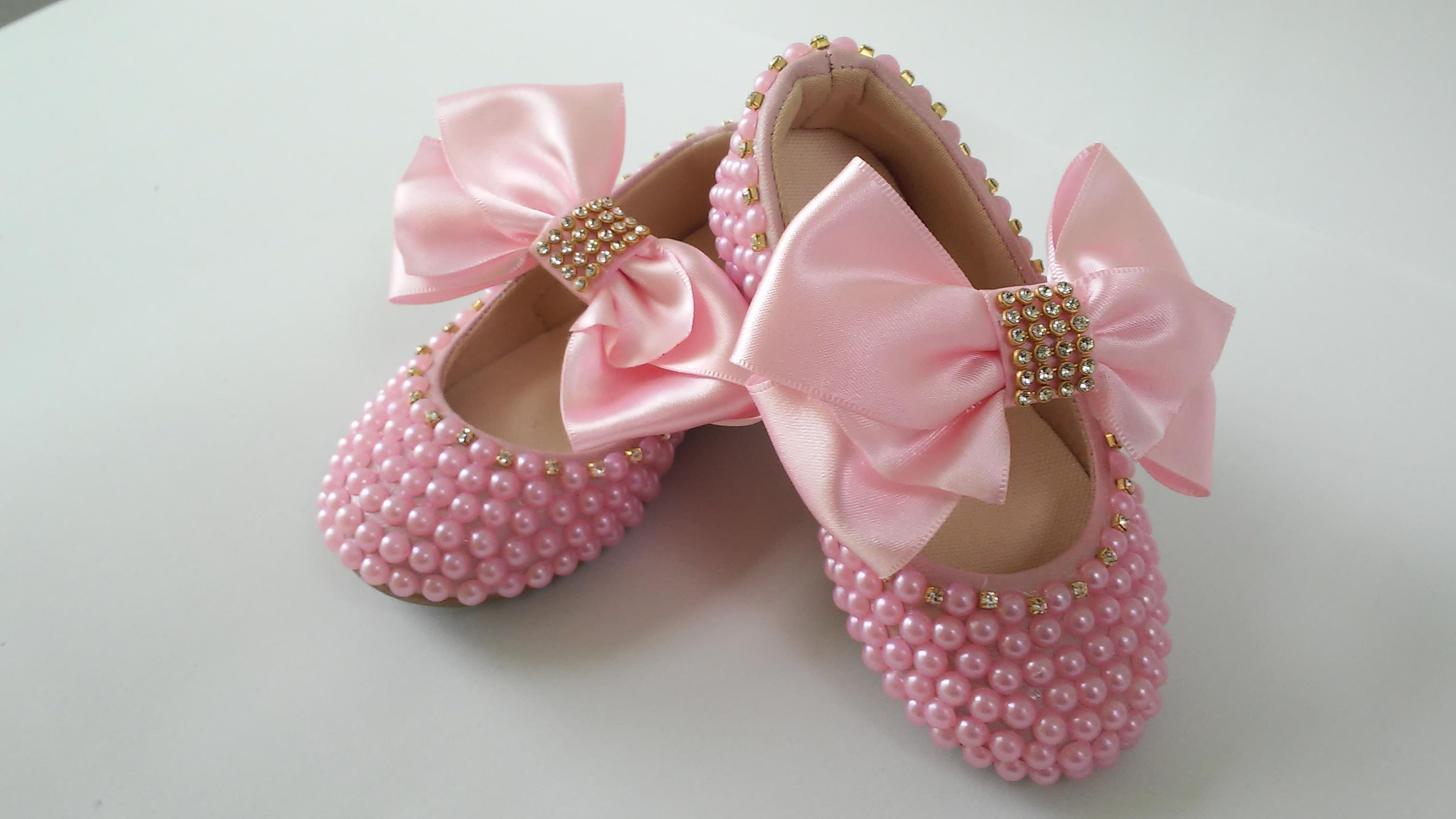 Bolsa De Perola Infantil : Conjunto sapato e bolsa com la?o rosa dindas baby elo
