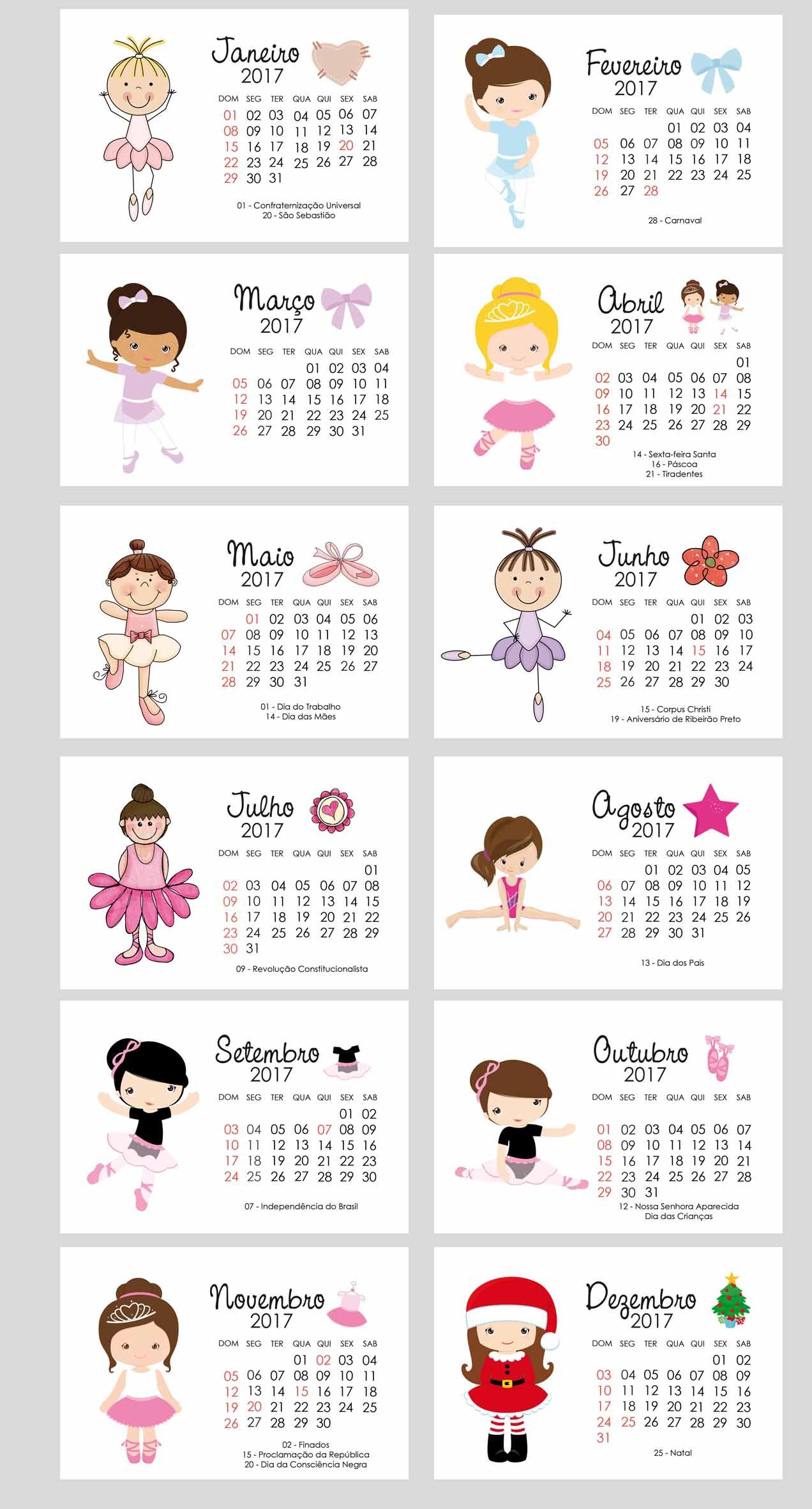 calendario-de-mesa-2017-ballet-calendario-personalizado calendario-de ...