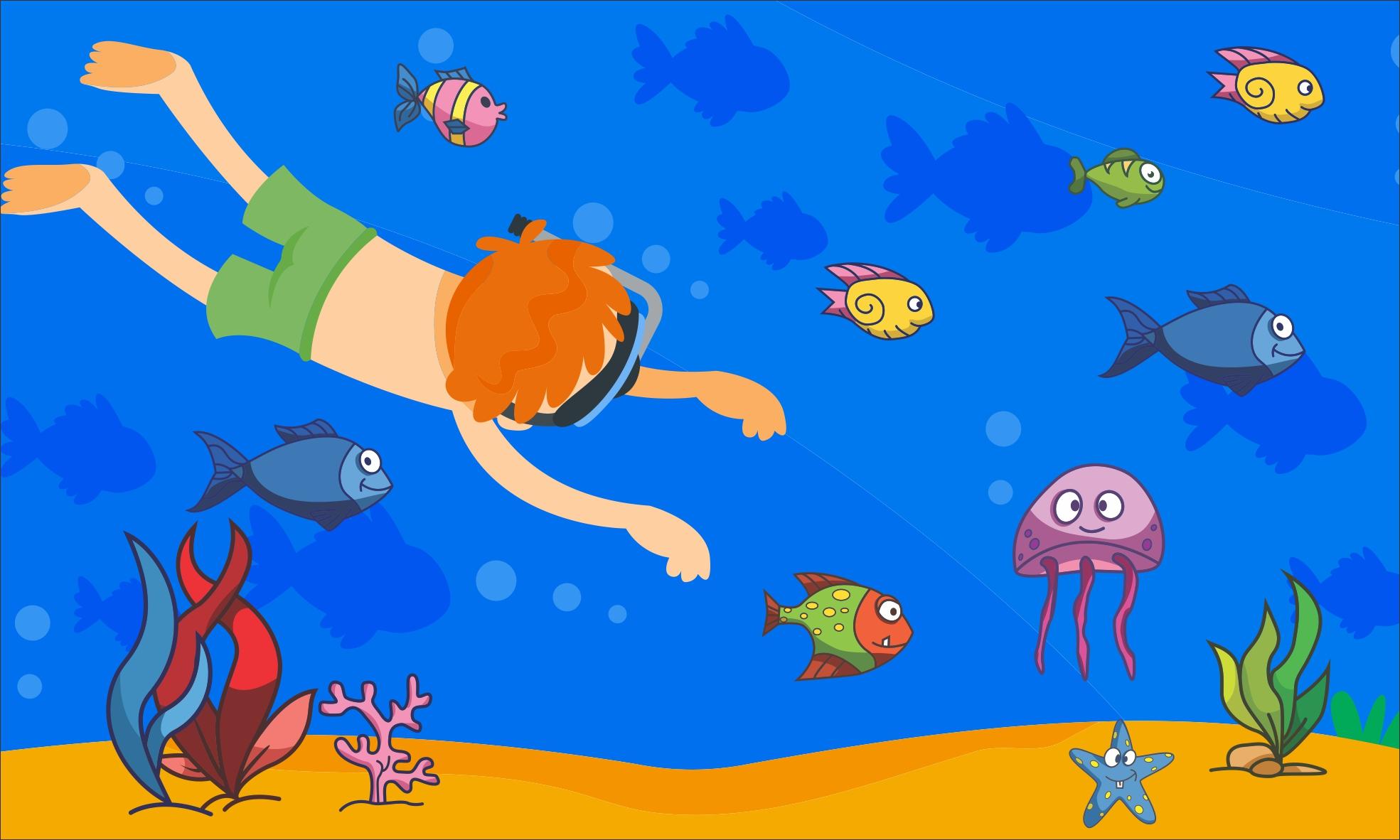 painel fundo do mar g frete gr u00e1tis atelier toque final elo7 Fish Clip Art Borders and Corners fish border clip art free