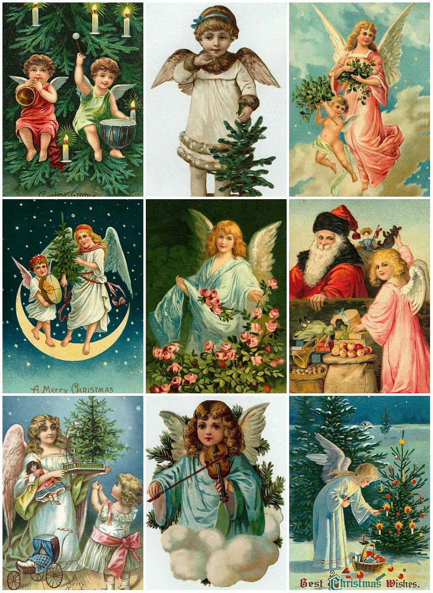 anjos de natal  100 ilustra u00c7 u00d5es antigas