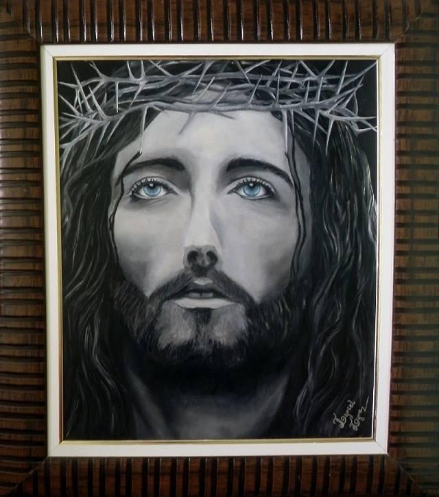 Resultado de imagem para pintura em tela coração de jesus