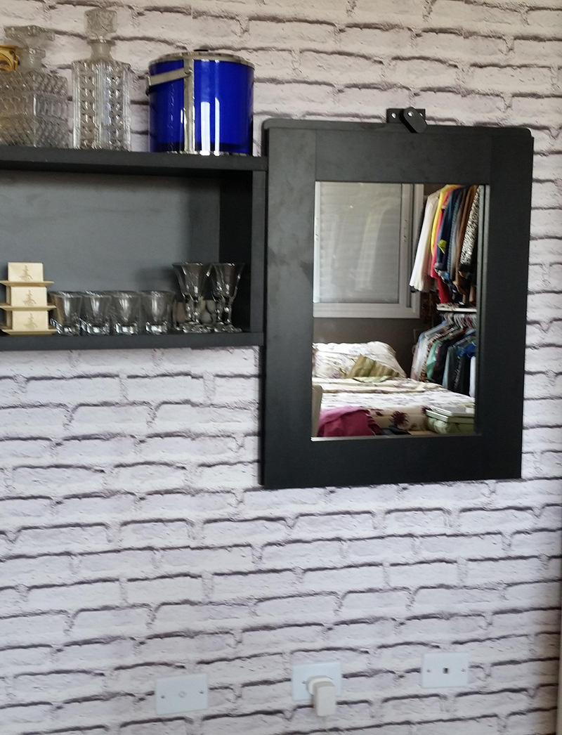 Mesa Fixa Parede ~ Mesa que vira Espelho Fixa na Parede Casa Urbana Carioca Elo7