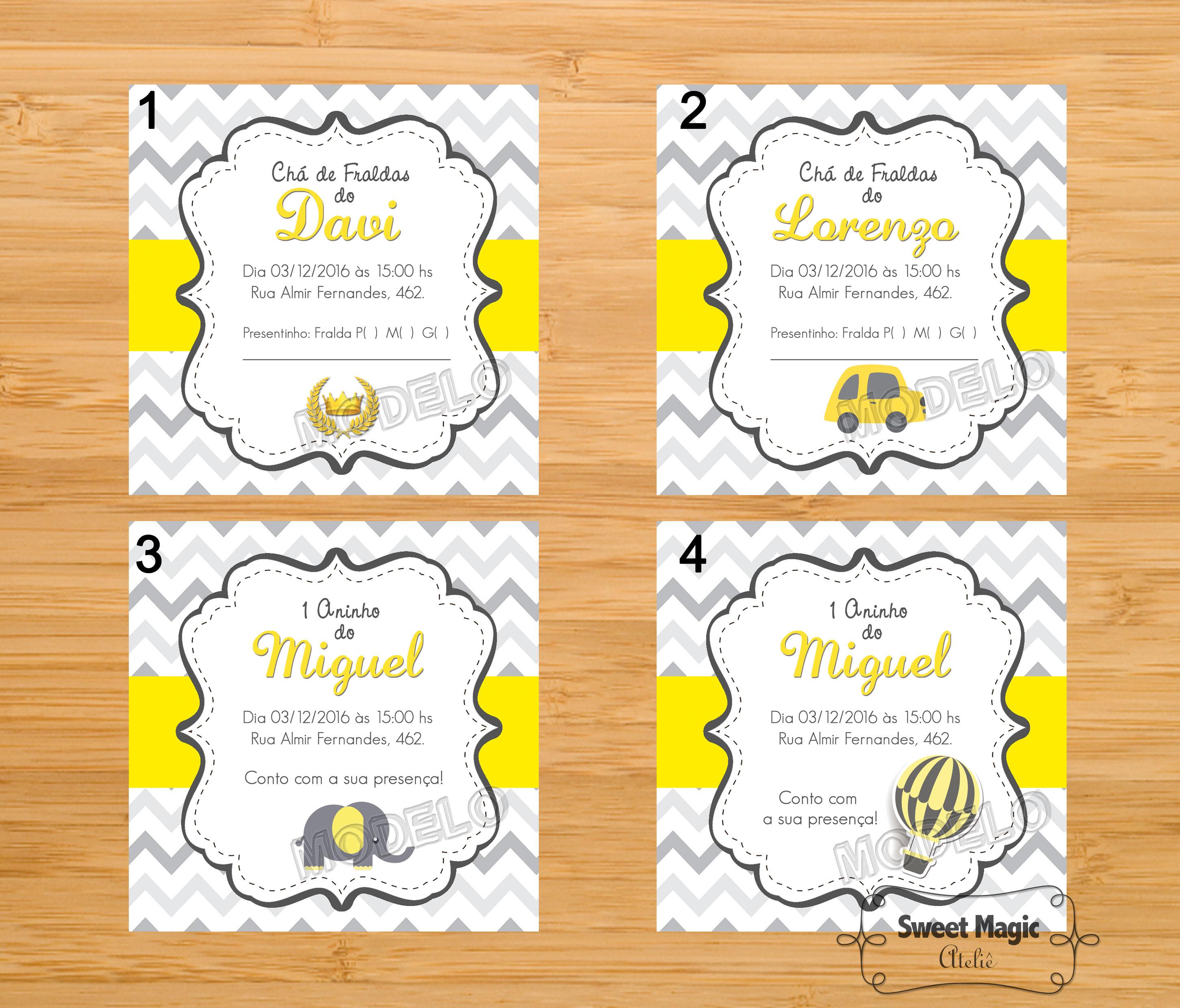 amarelo e cinza bebe convite chevron amarelo e cinza lembrancinha #C7B804 2904x2480 Banheiro Amarelo E Cinza