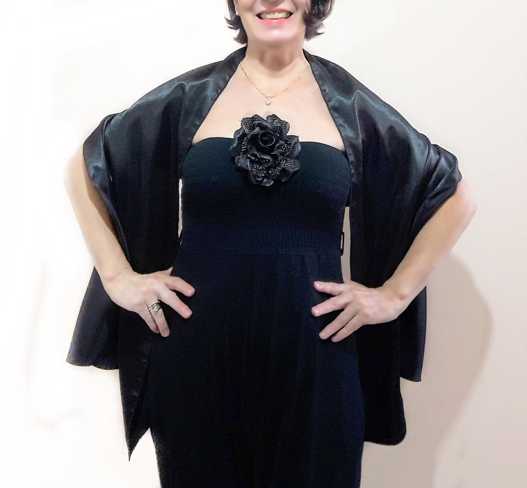 Xale para vestido de festa