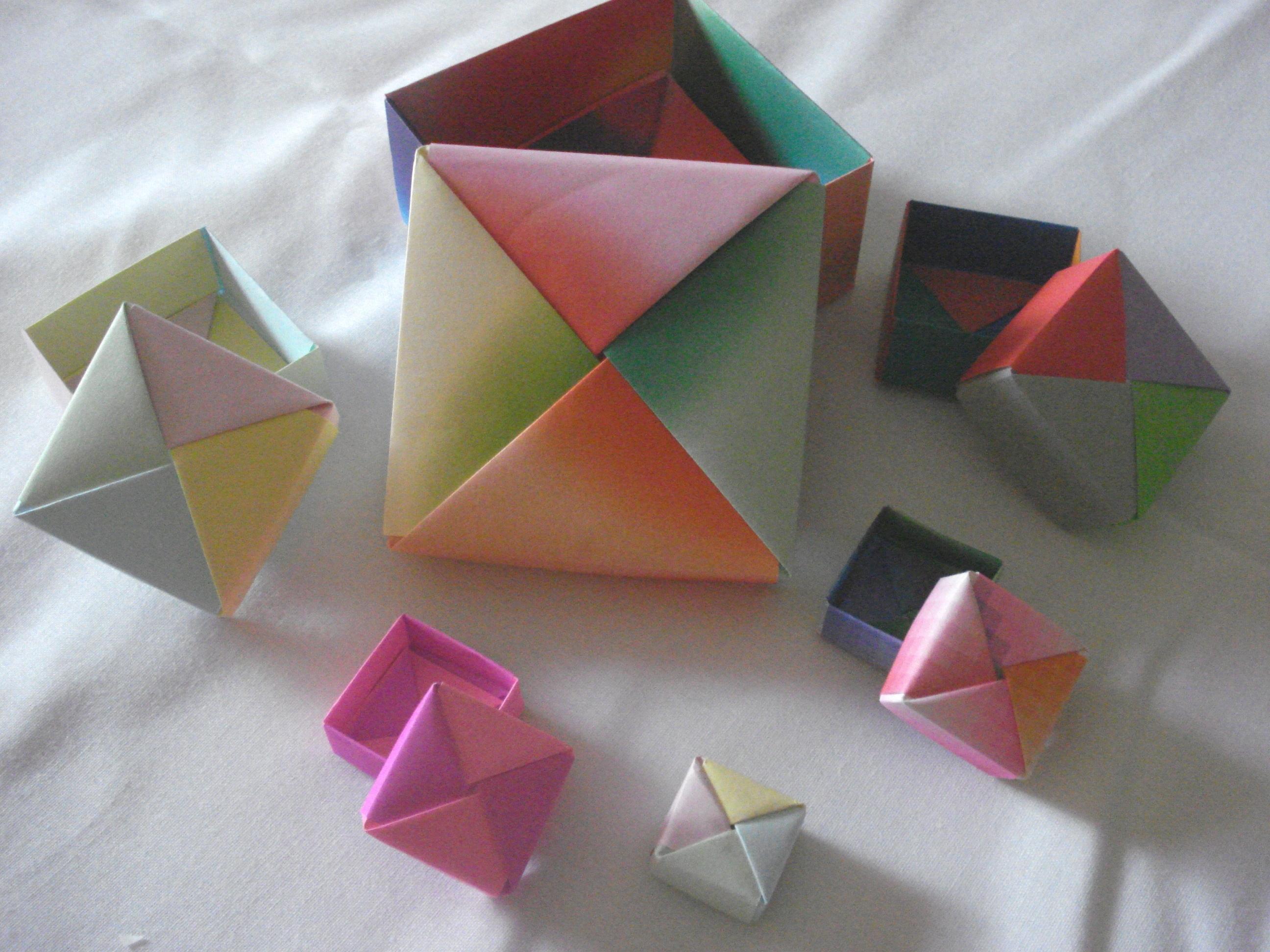 Artesanato De Palha Historia ~ Caixas de origami Relicarte Artesanato Elo7