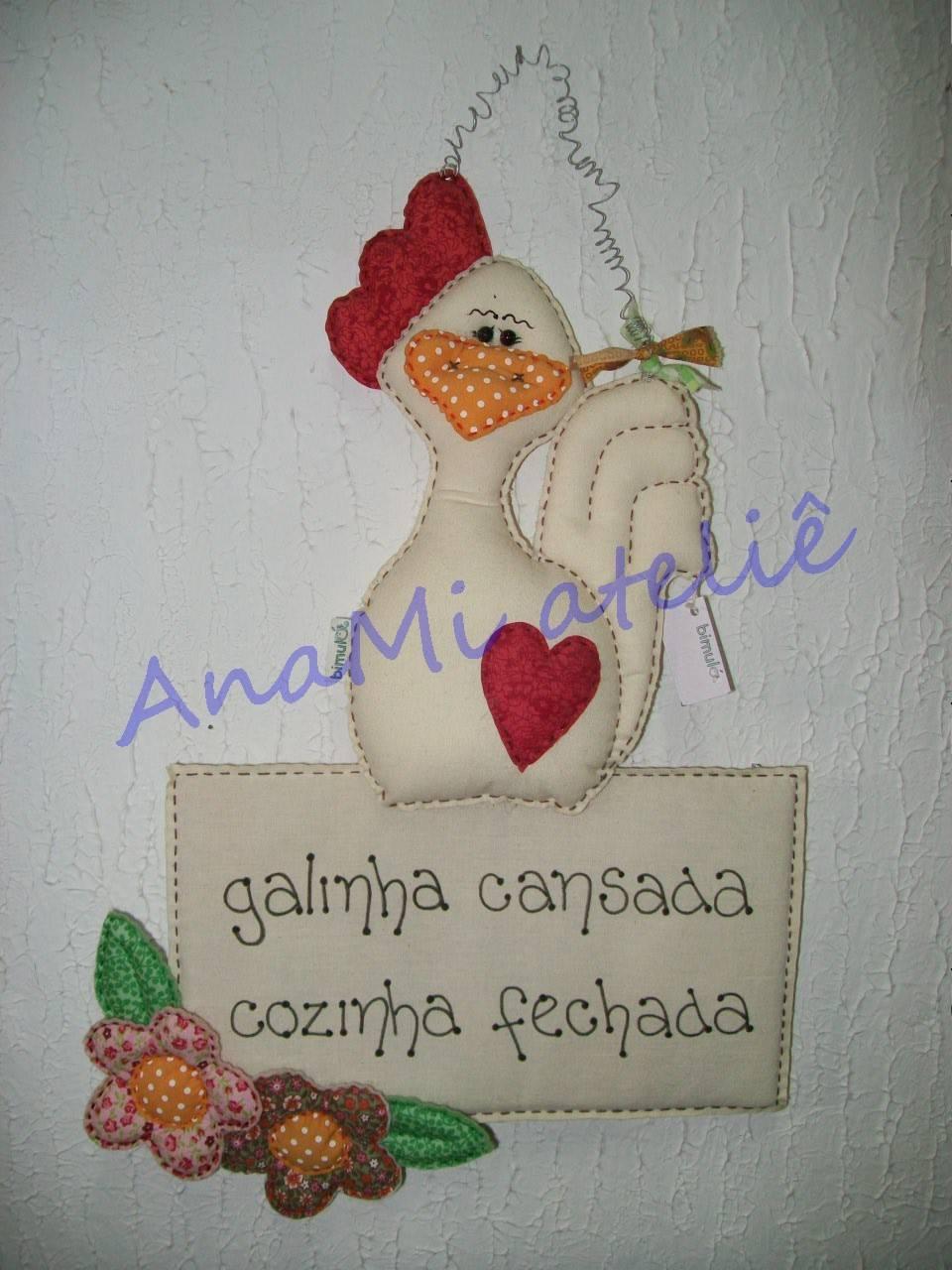 Enfeite de cozinha galinha  Bimulá  Elo7