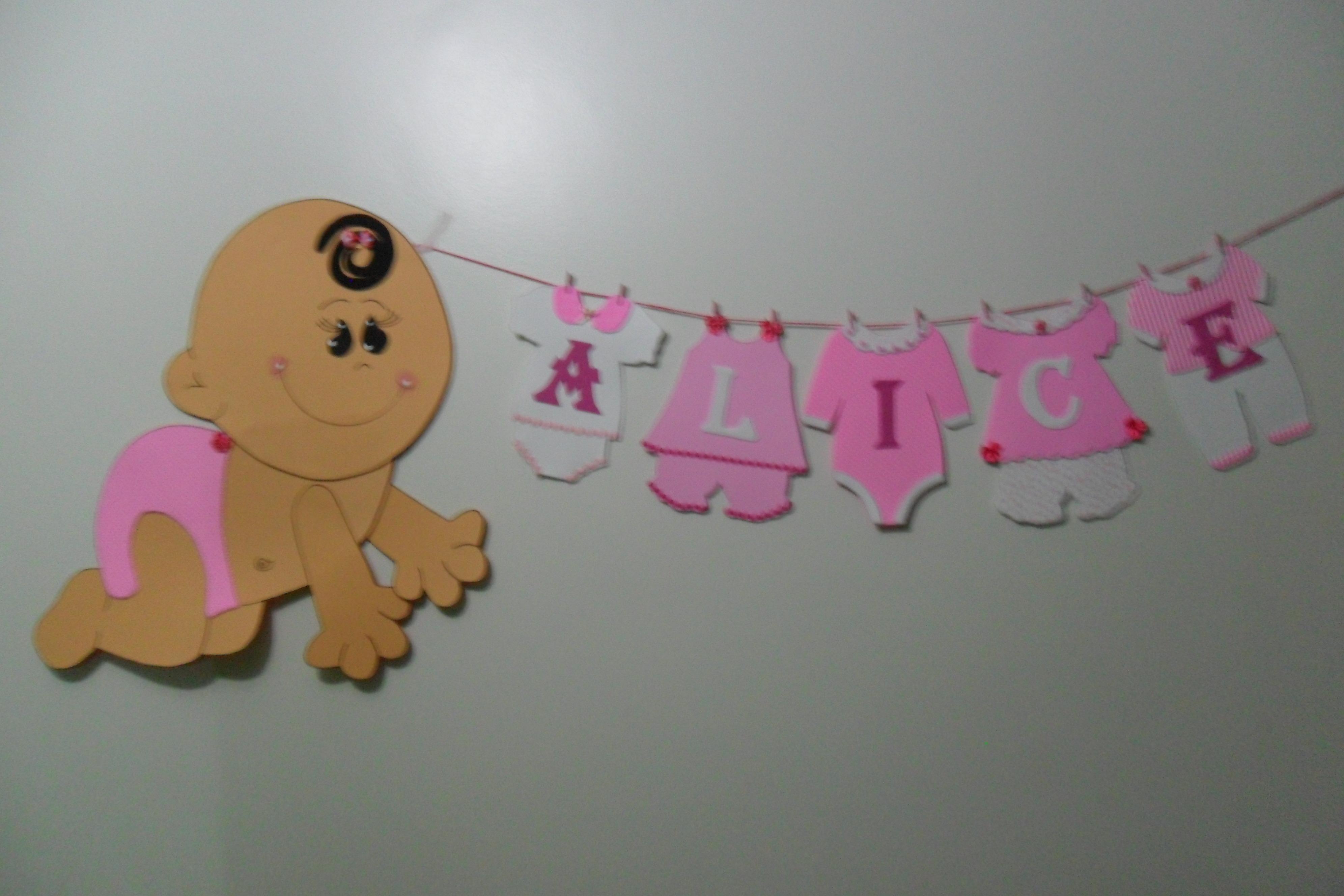 Varal De Roupinhas De Bebê Personalizado Varal De Roupinhas De Bebê