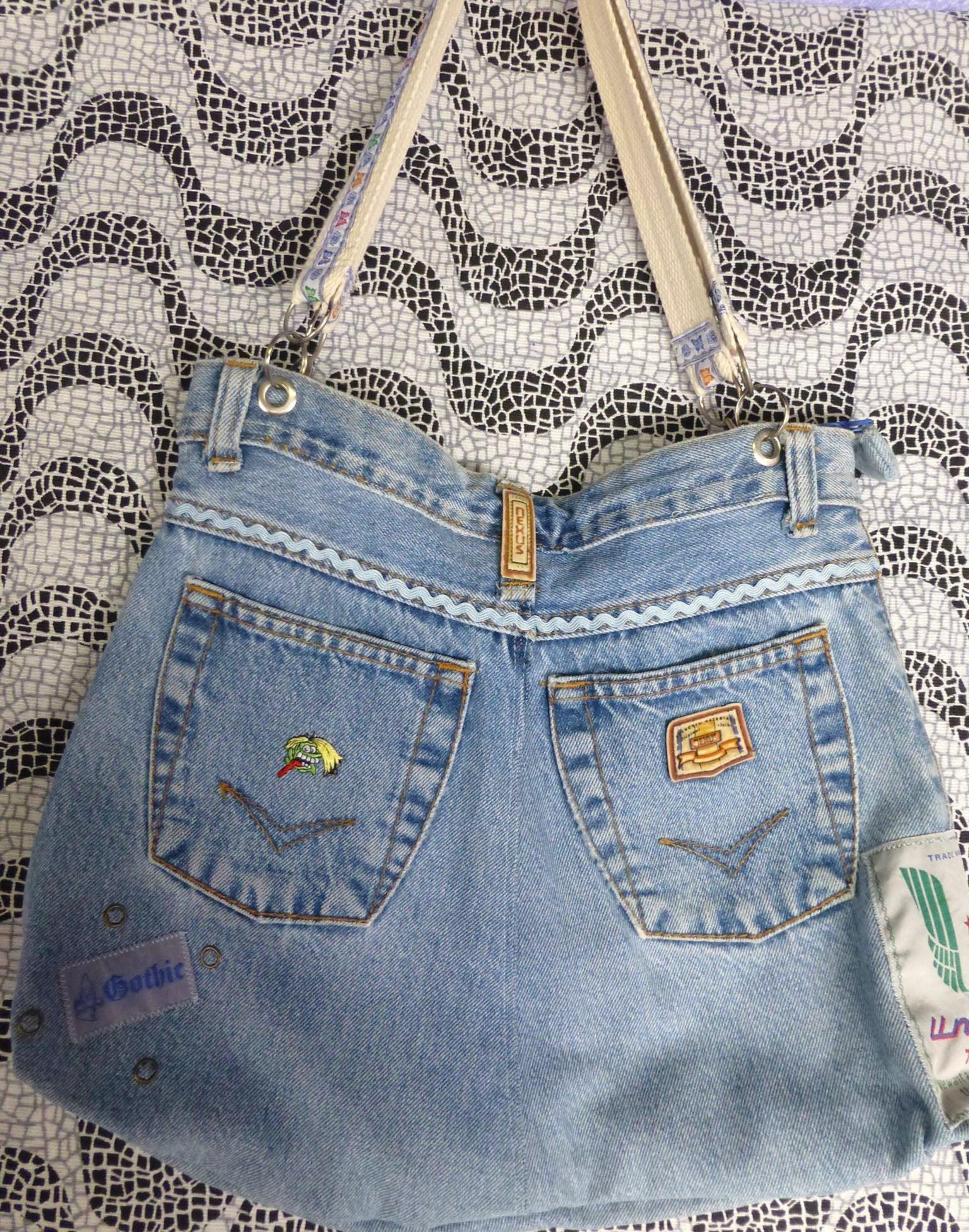 Bolsa De Cal  A Jeans Customizada Bolsa De Cal  A Jeans Customizada