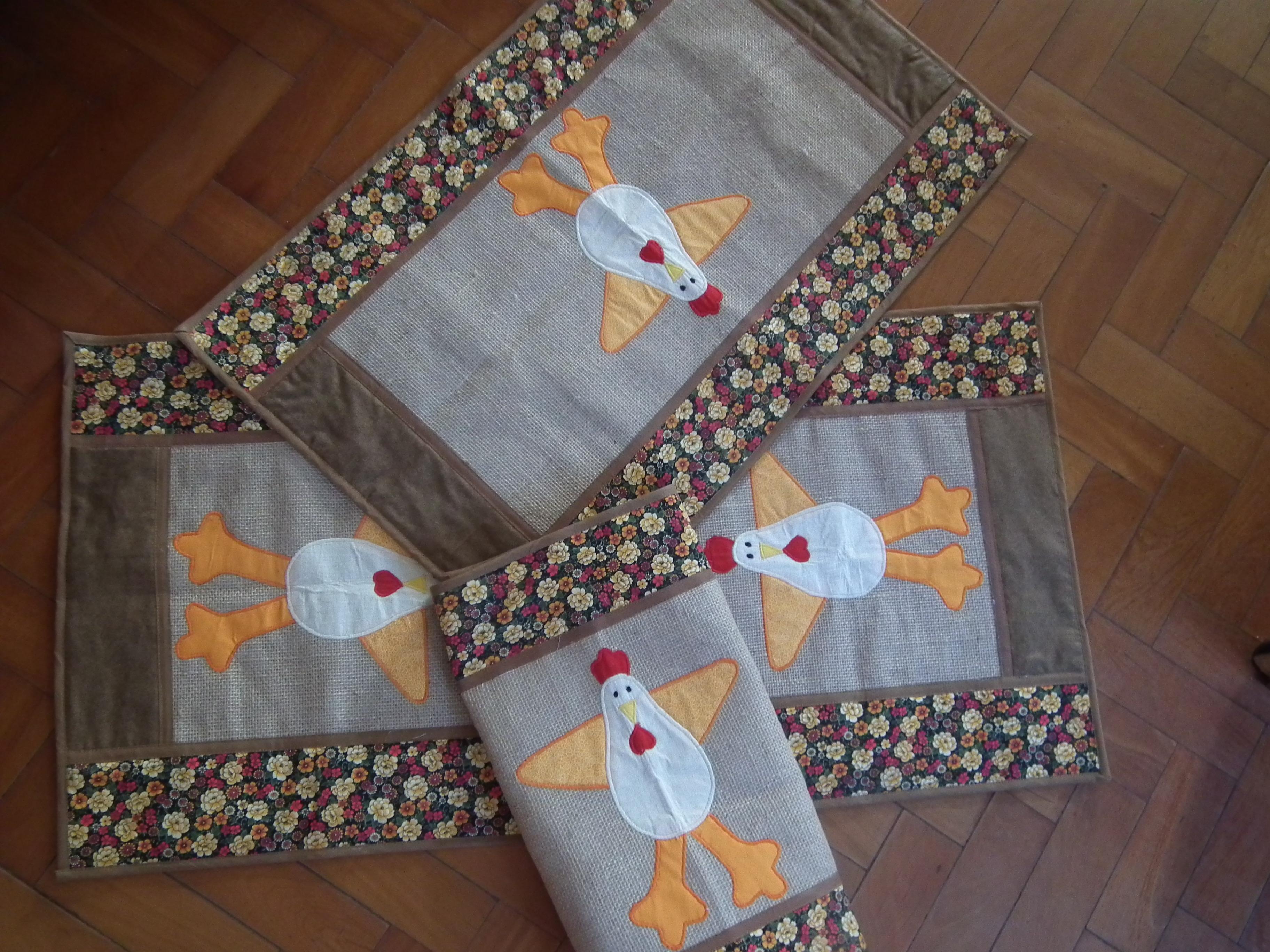Tapete Patchwork Simples : tapete galinhas da cris tapete galinhas da cris