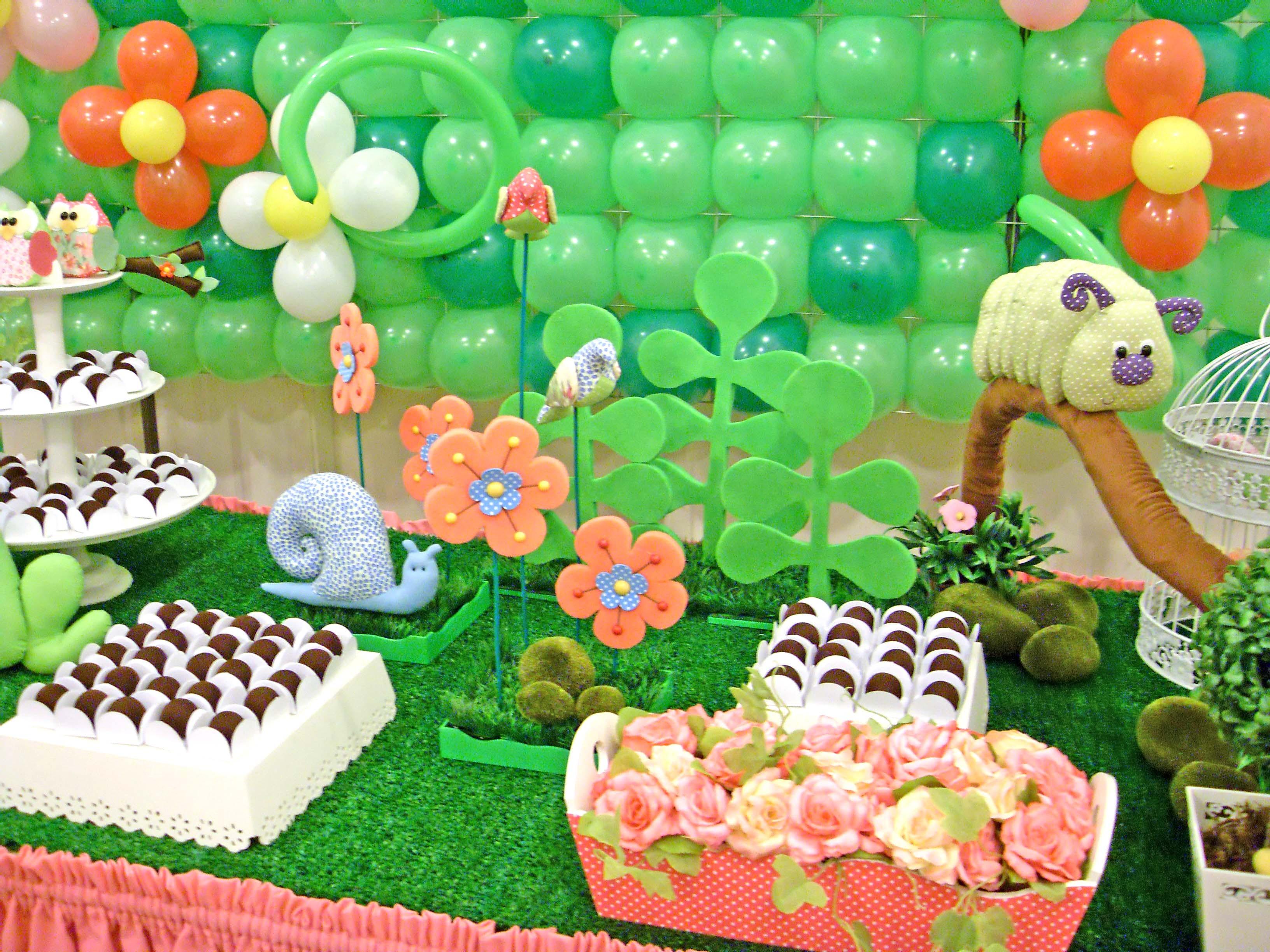 decoracao de jardim lojaDecoração Jardim (painel de balões