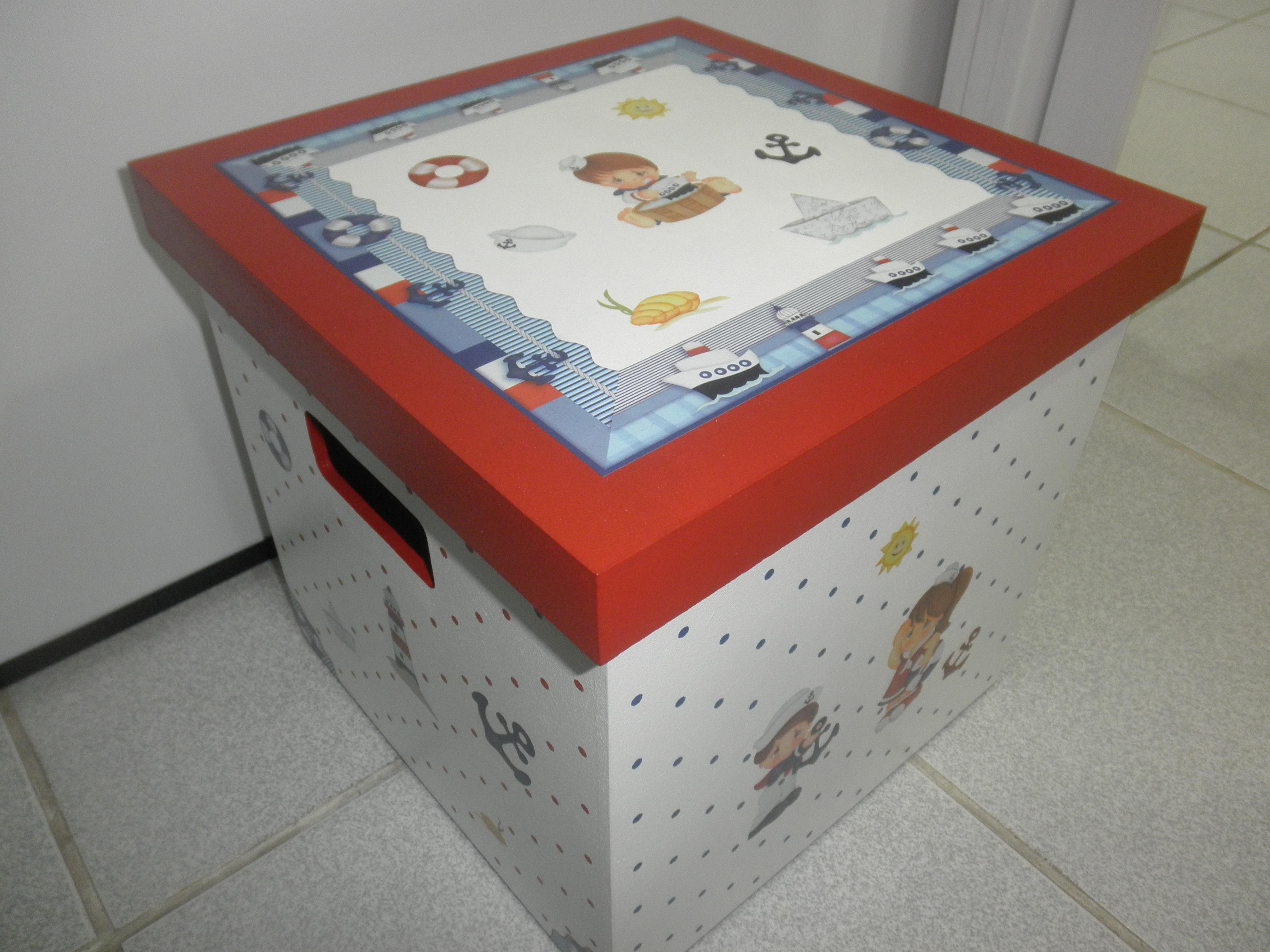 Caixa De Brinquedos Marinheiros Ateliê Ponto e Pincel Elo7 #A43627 3968x2976