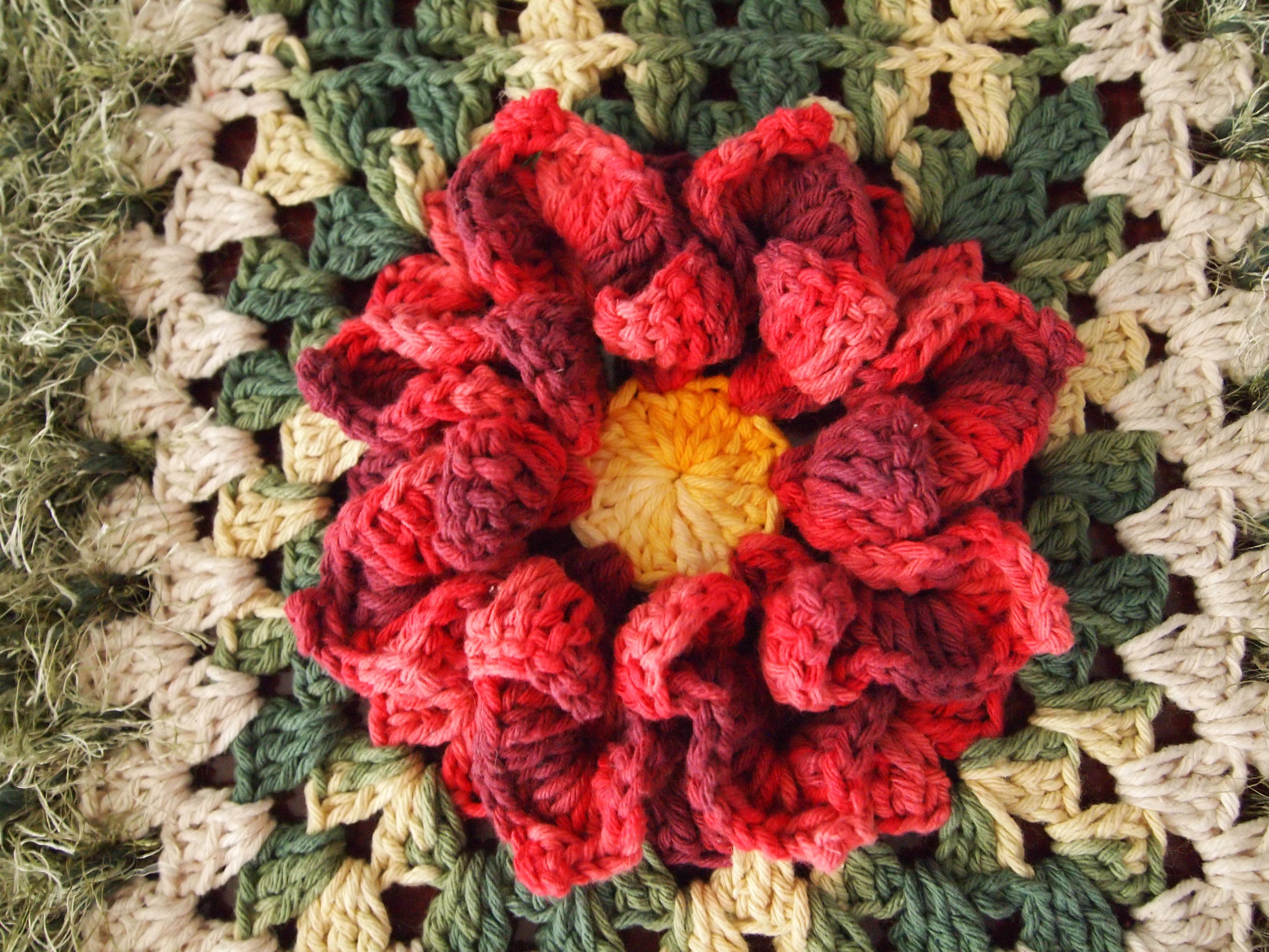 tapete redondo flor bico papagaio croches elsa elo car. Black Bedroom Furniture Sets. Home Design Ideas