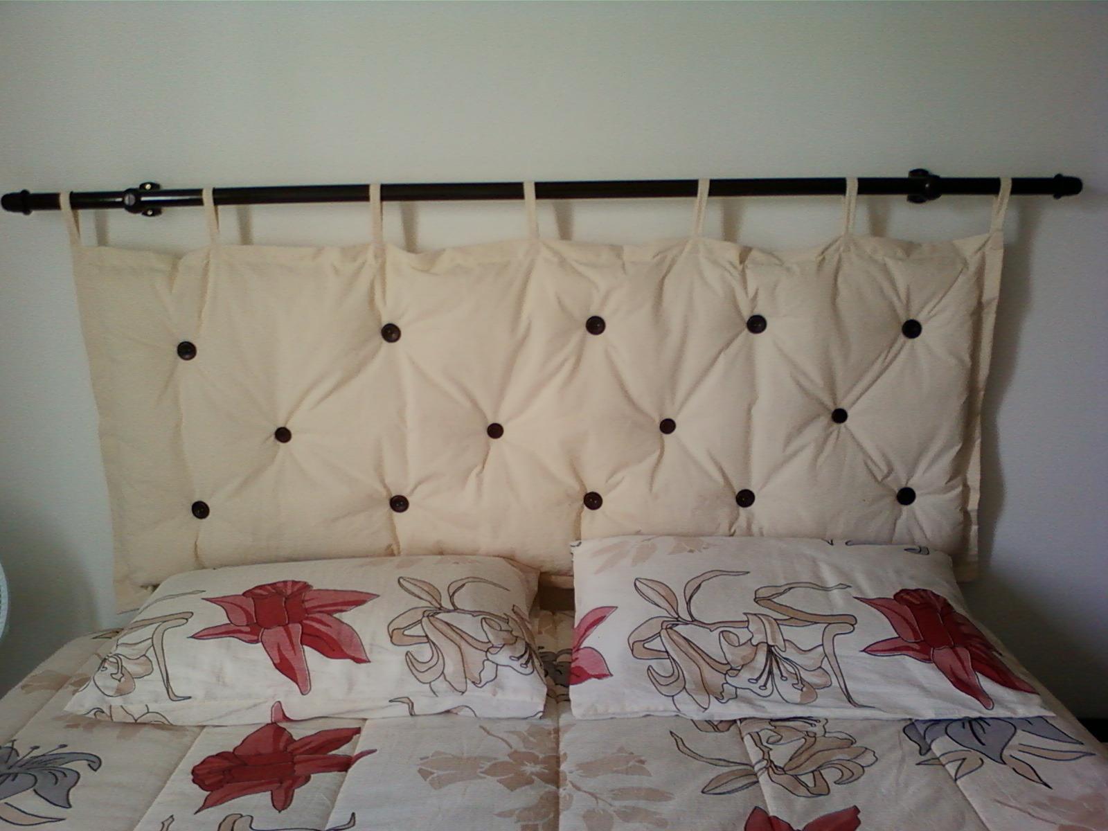Cabeceira para cama box sueli bolsas e artesanatos elo7 - Cabecera para cama ...