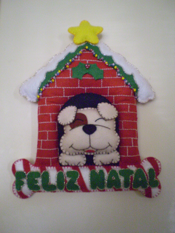Enfeite De Natal ~ NATAL ENFEITE DE PORTA TIBYKO arte em feltro Elo7