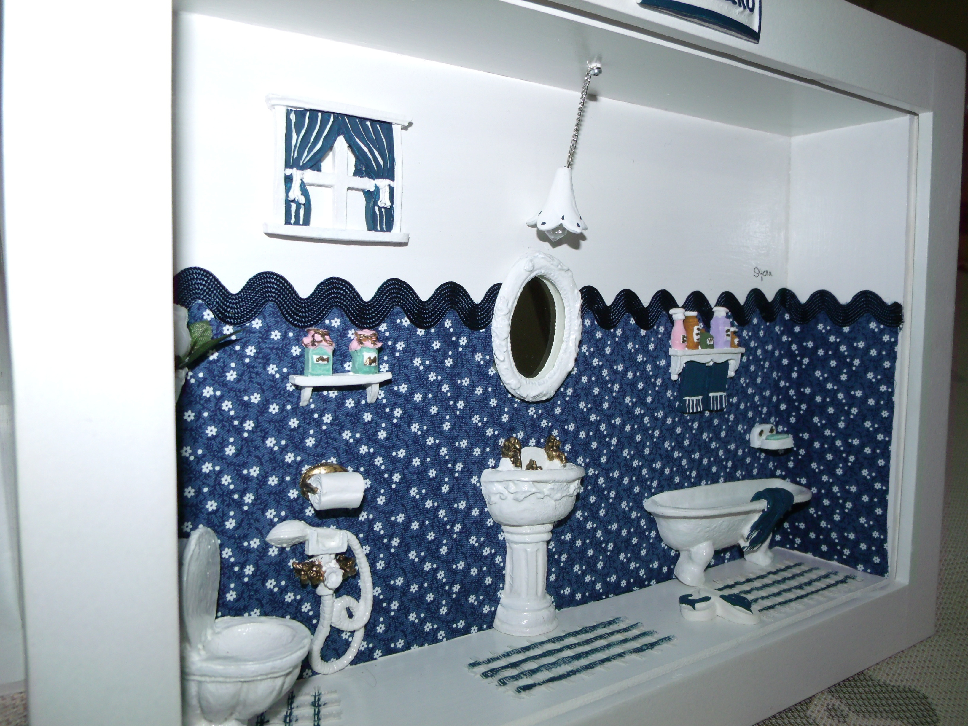 azul marinho Banheiro azul marinho Banheiro azul marinho Banheiro azul  #2A4267 3264x2448 Banheiro Com Azul