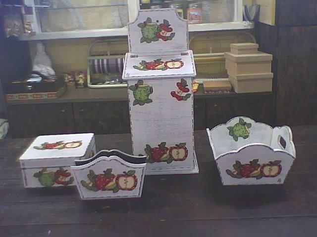 Artesanato Facil E Lucrativo ~ Artesanatos em Madeira para Cozinha Elo7