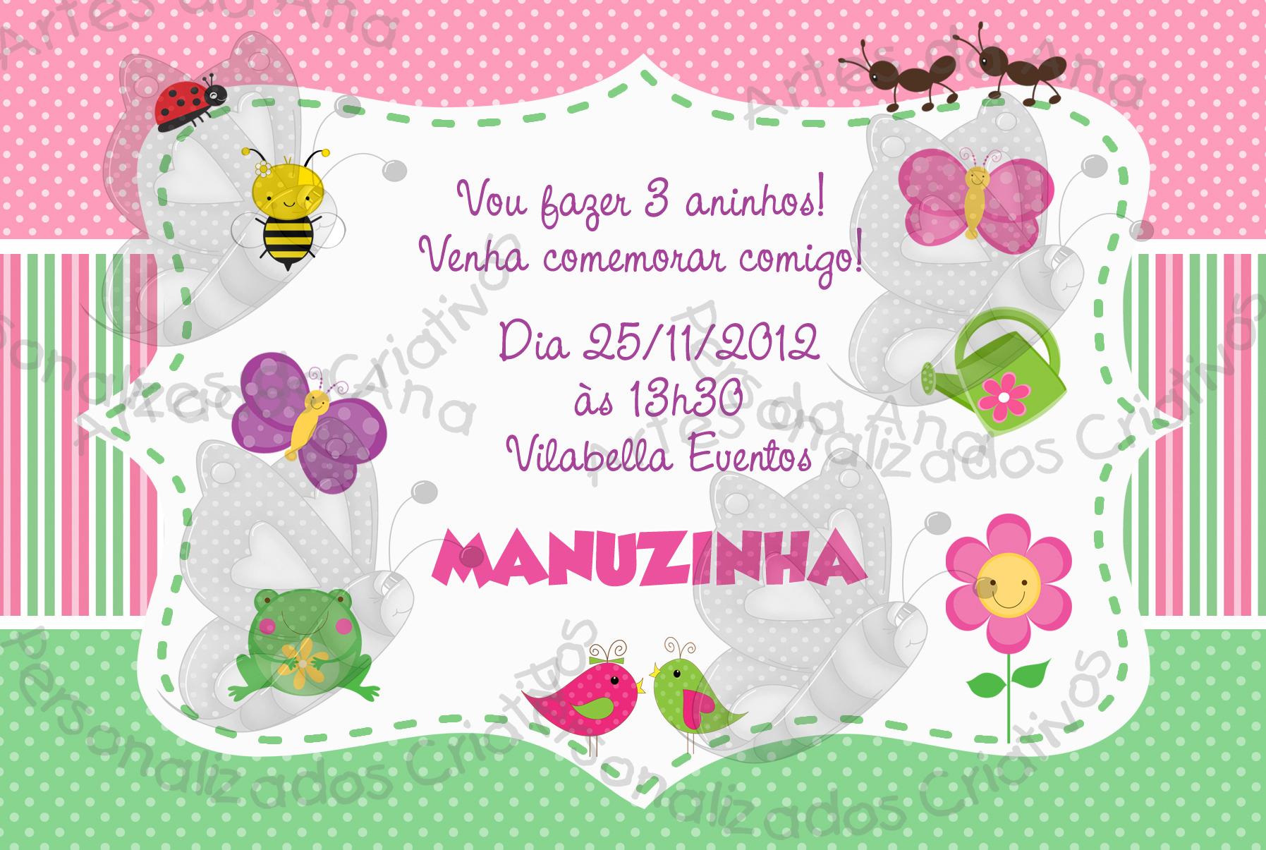 festa jardim convite : festa jardim convite:Convite Jardim Rosa e Verde