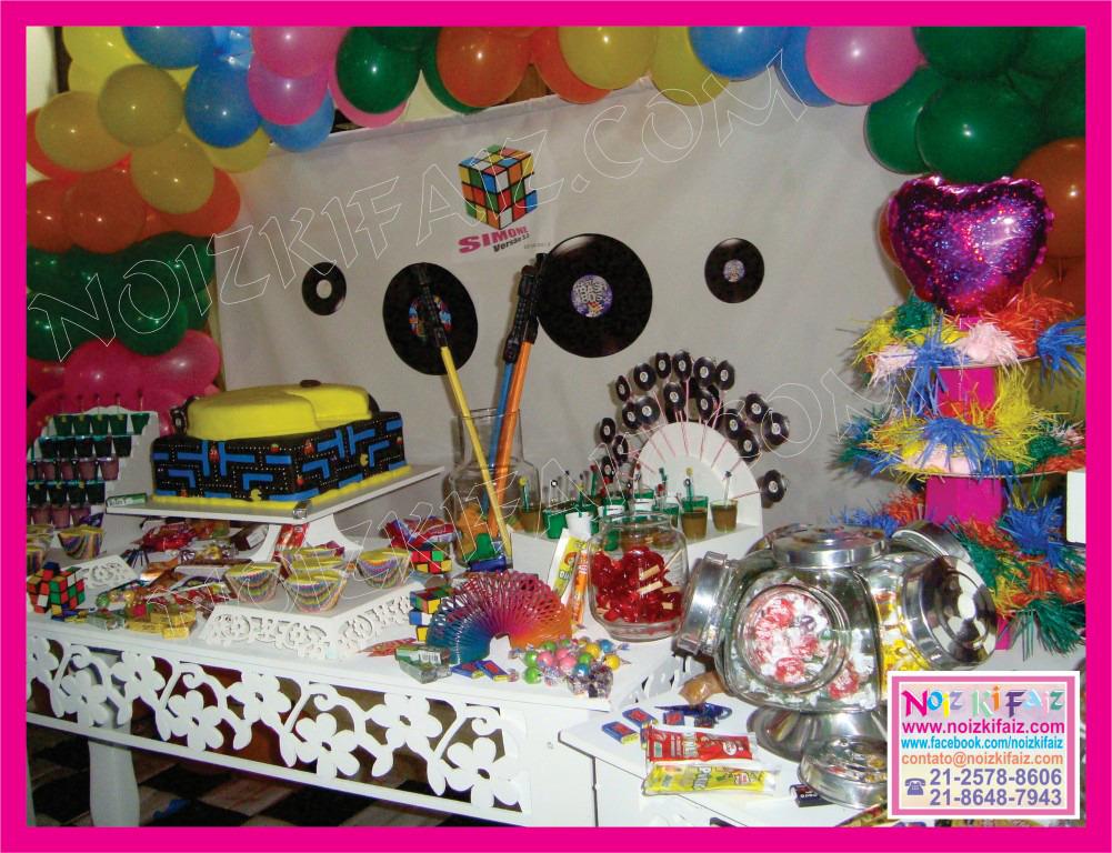 decoracao festa retro : decoracao festa retro:Decoracao De Festa Anos 80