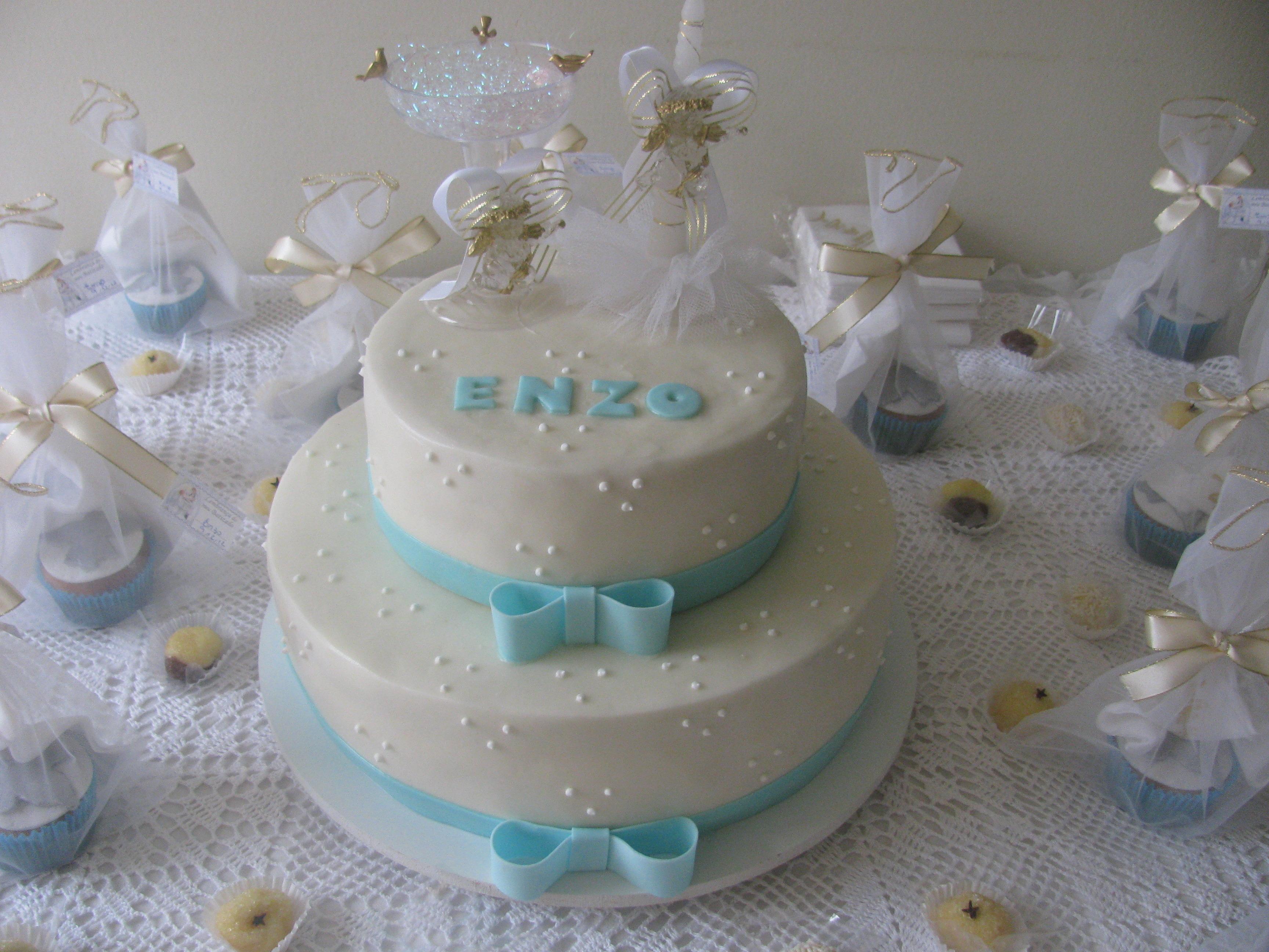 Inicio doces bolo decorado bolo de batizado 2 andares