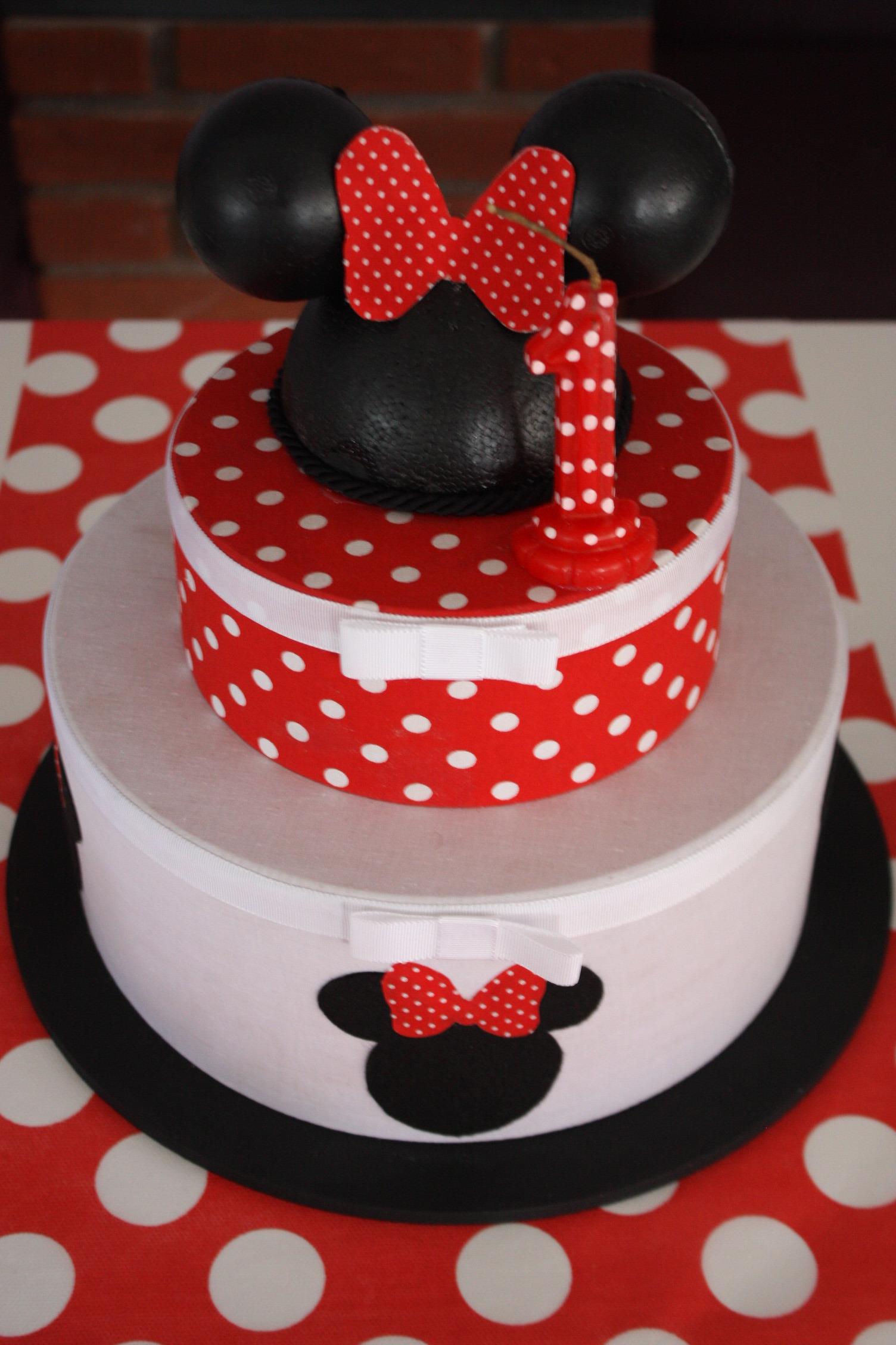 Pin Minnie Vermelha Festa Provençal Com Muro Inglês Cake on
