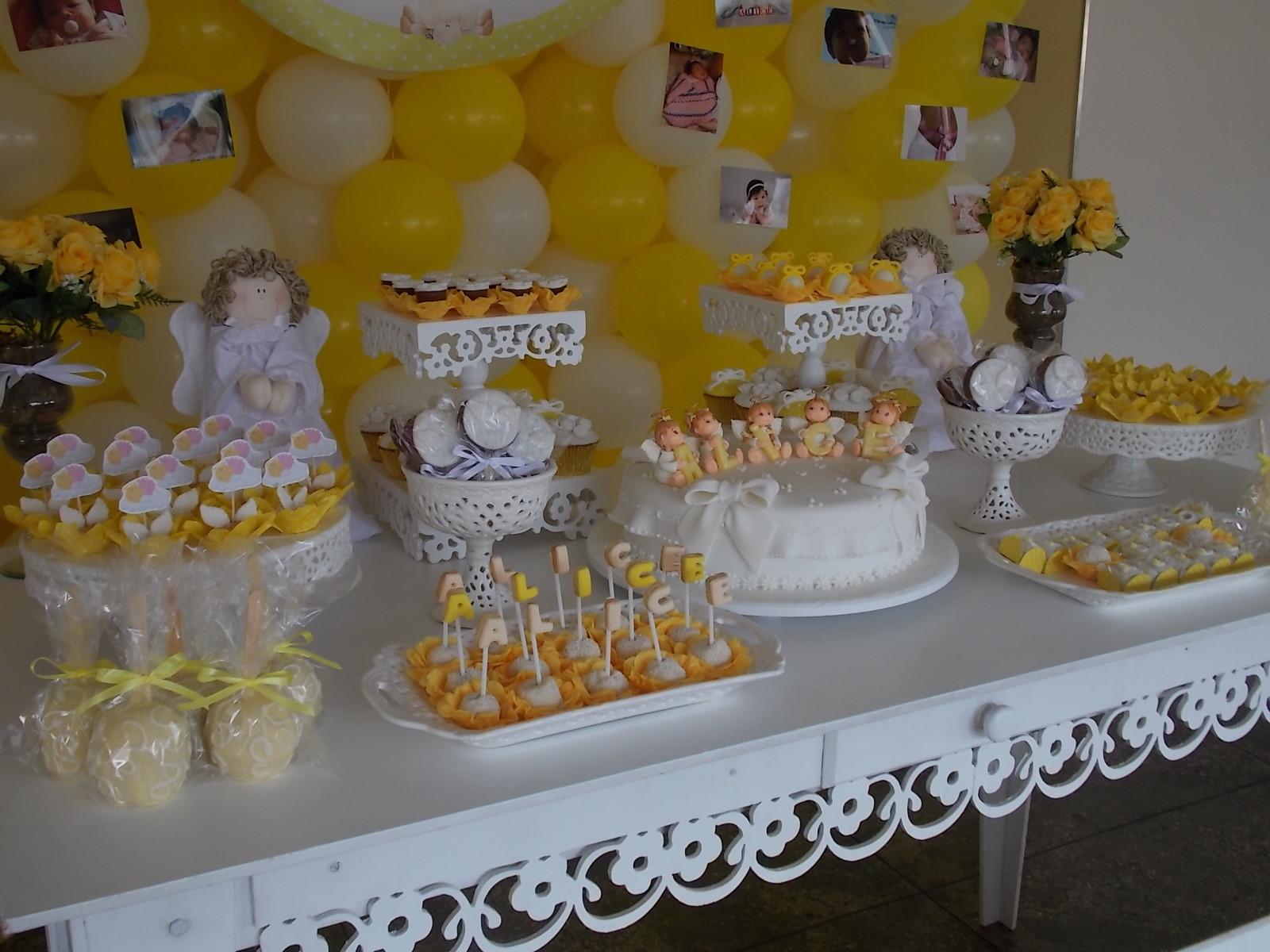 decoracao branco amarelo : decoracao branco amarelo:Batizado Amarelo e Branco Decoração Batizado Amarelo e Branco