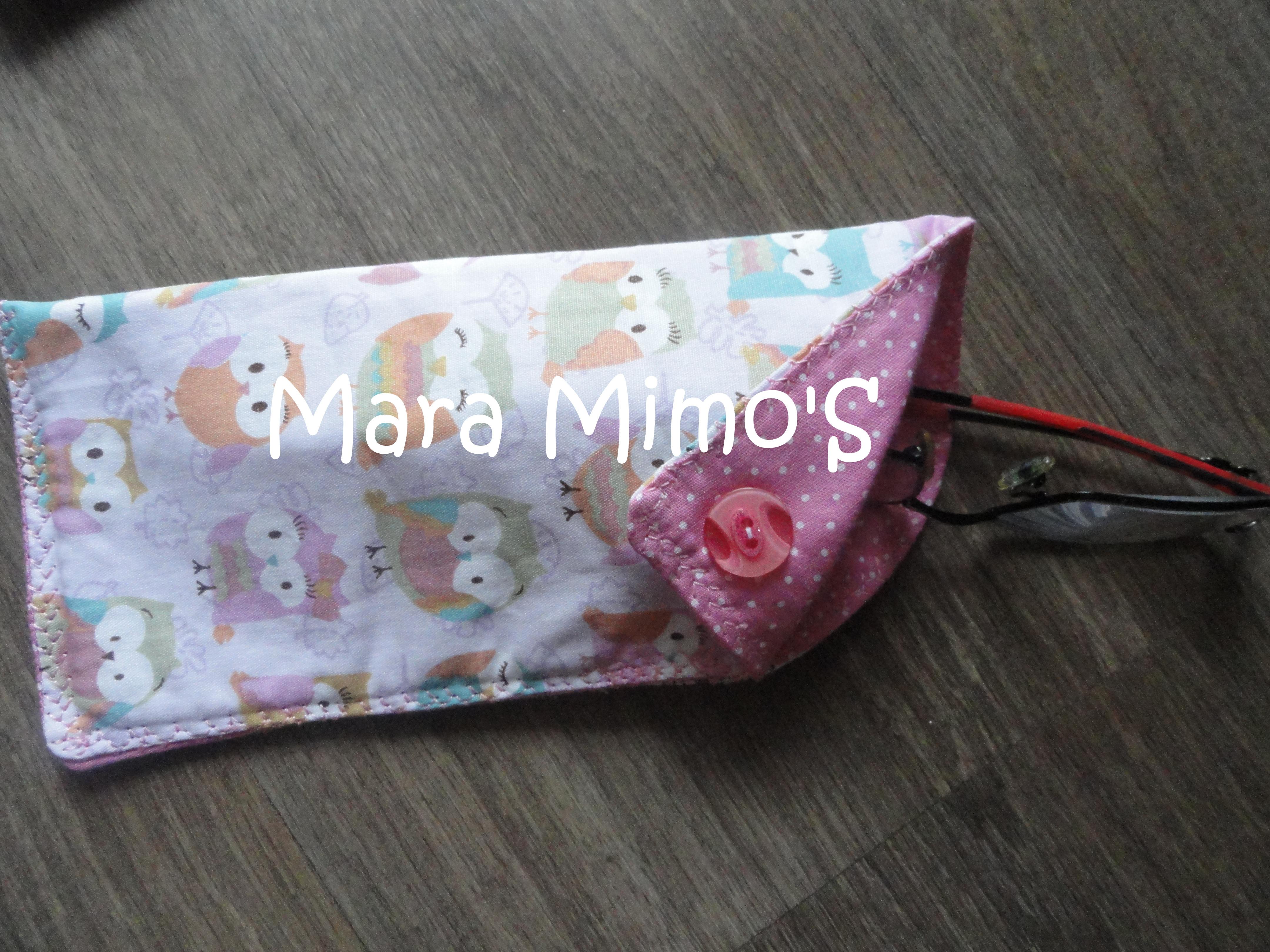 Porta culos em tecido mara mimos elo7 for Porta oculos