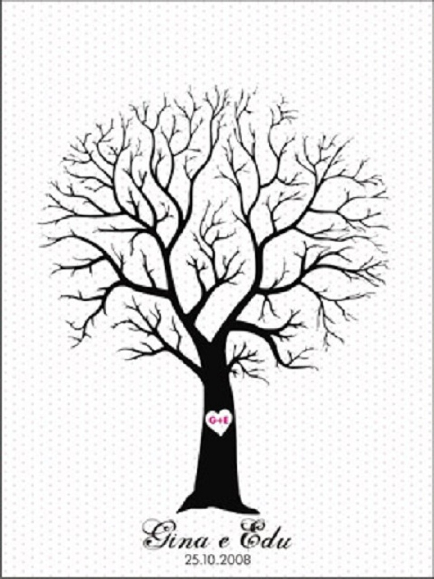 u00c1rvore de Dedo (Finger Tree) : Rita Brasil lembrancinhas ...