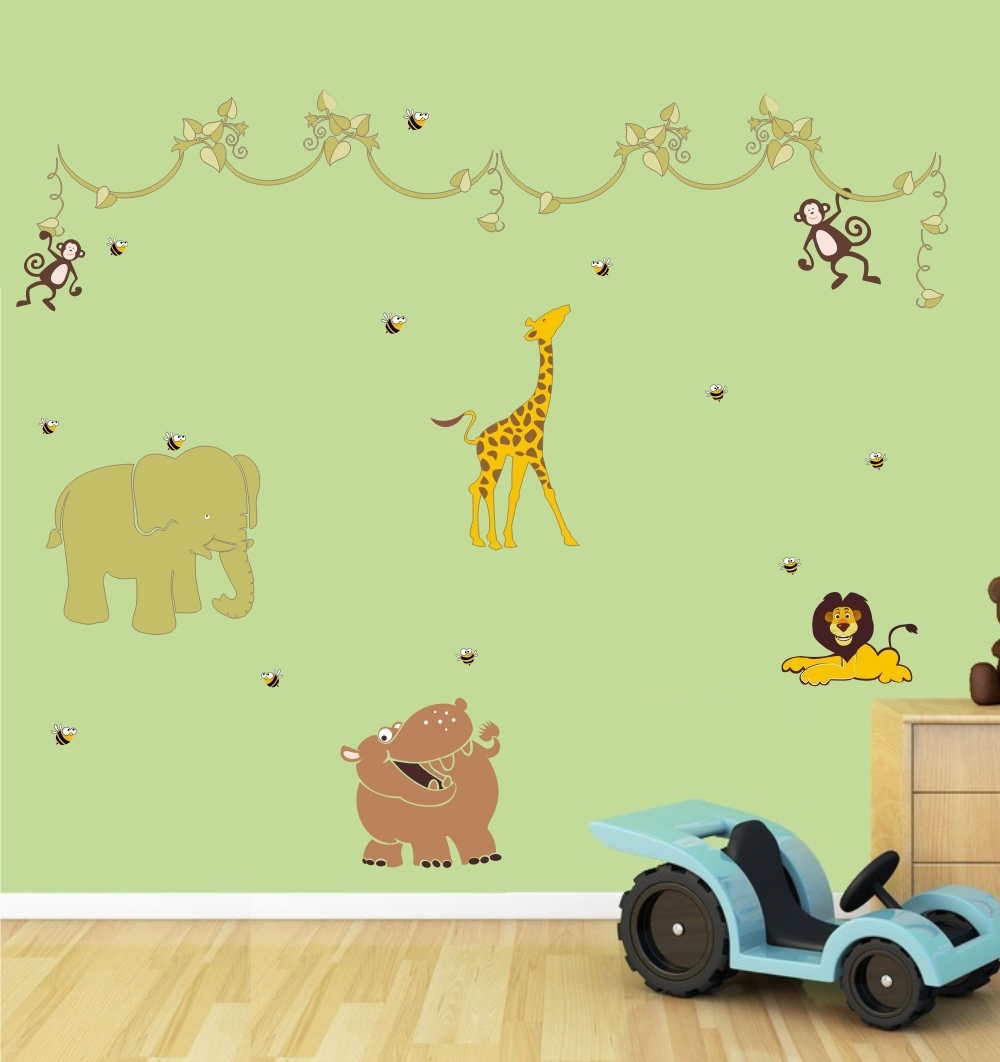 Adesivo Safari ~ Adesivo Safari 019 Ideia Cor adesivos decorativos Elo7
