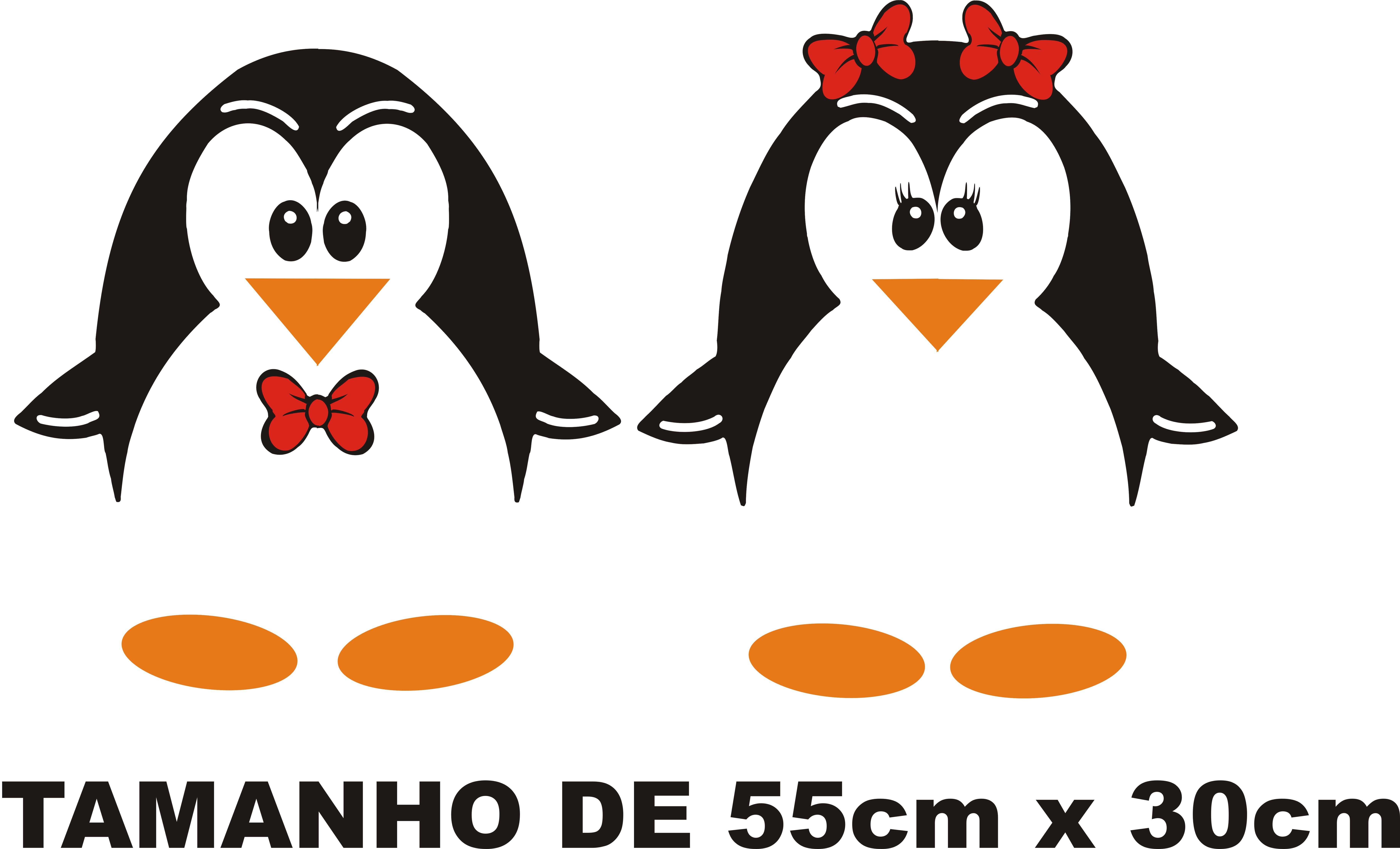 Adesivo Para Geladeira De Pinguins ~ ADESIVO CASAL DE PINGUINS 2 JAPA DECORA u00c7ÃO Elo7