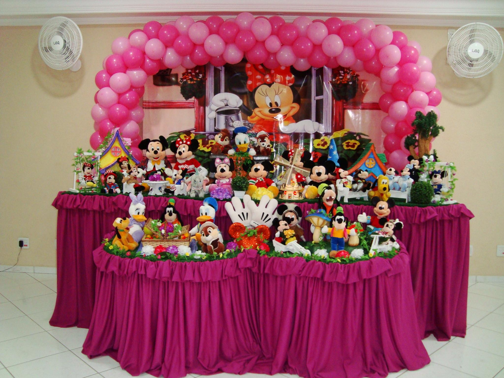 Decoração Minnie 3 metros  Rede Festas Decorações  Elo7