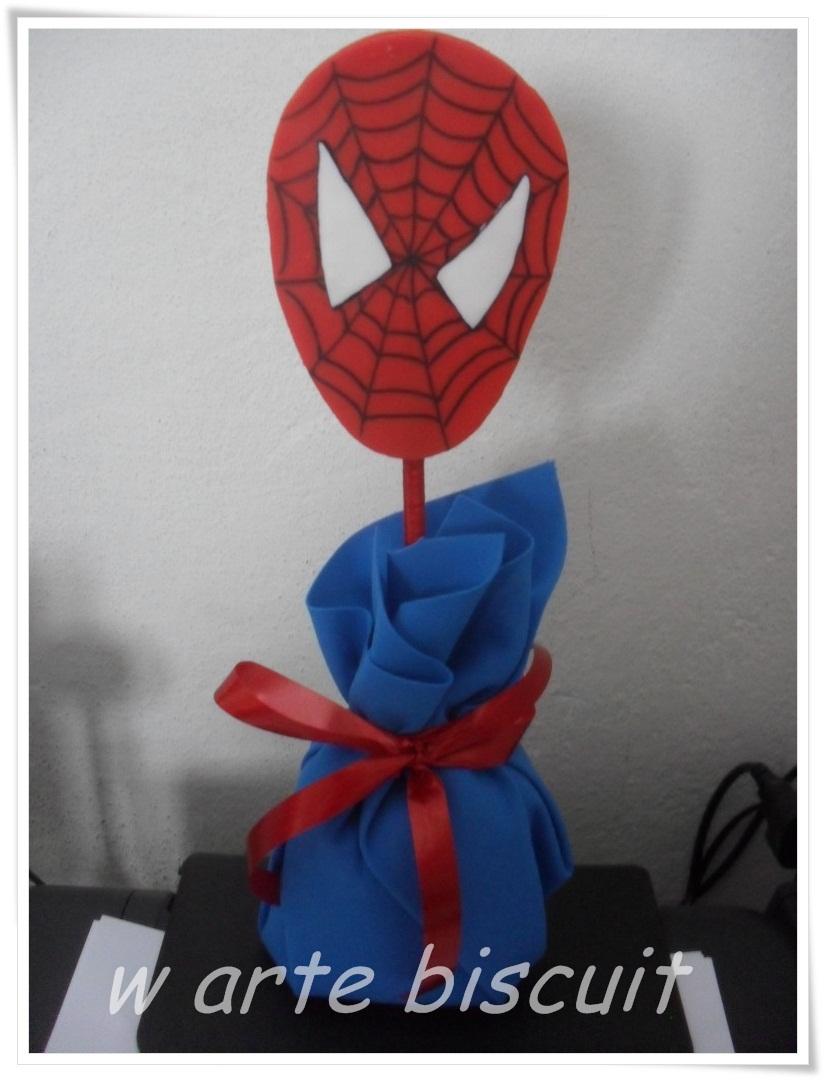 enfeite de mesa do homem aranha W ARTE BISCUIT Elo7 -> Enfeites De Mesa Do Homem Aranha