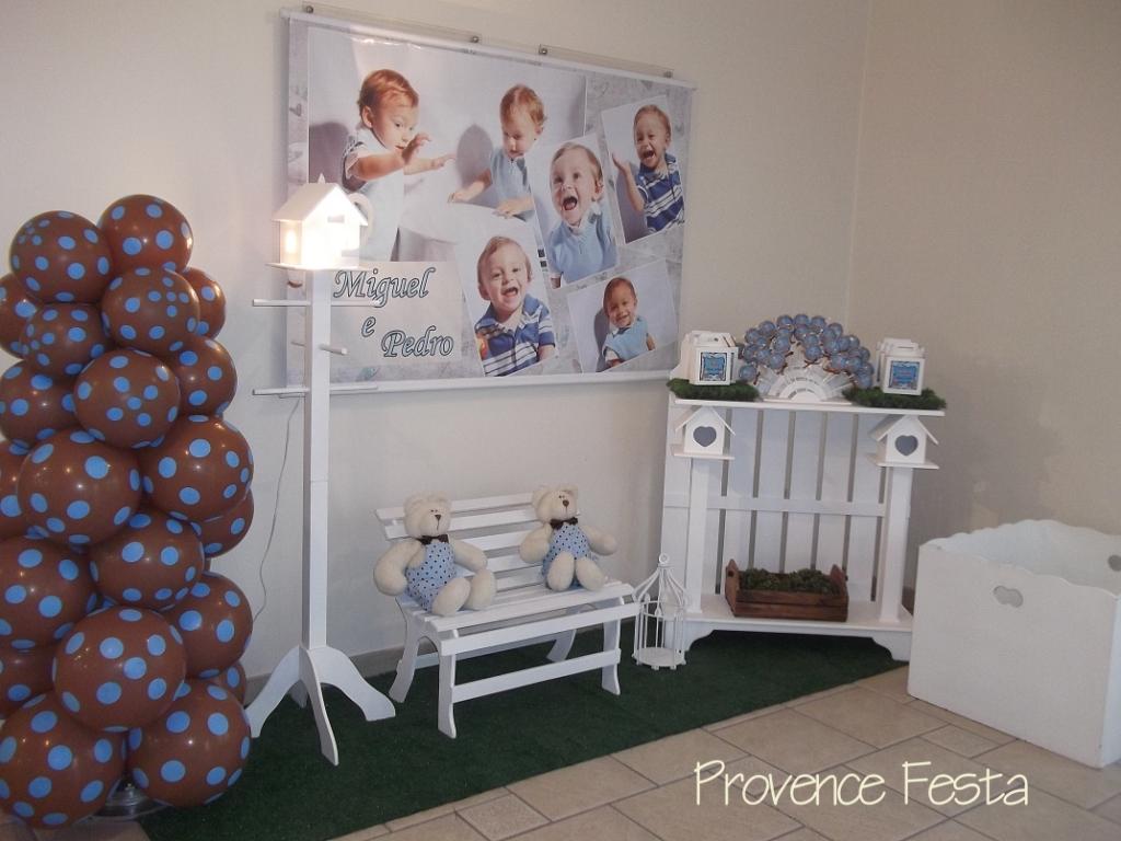 decoracao festa urso azul e marrom:azul e marrom provencal festa ursinho azul e marrom provencal