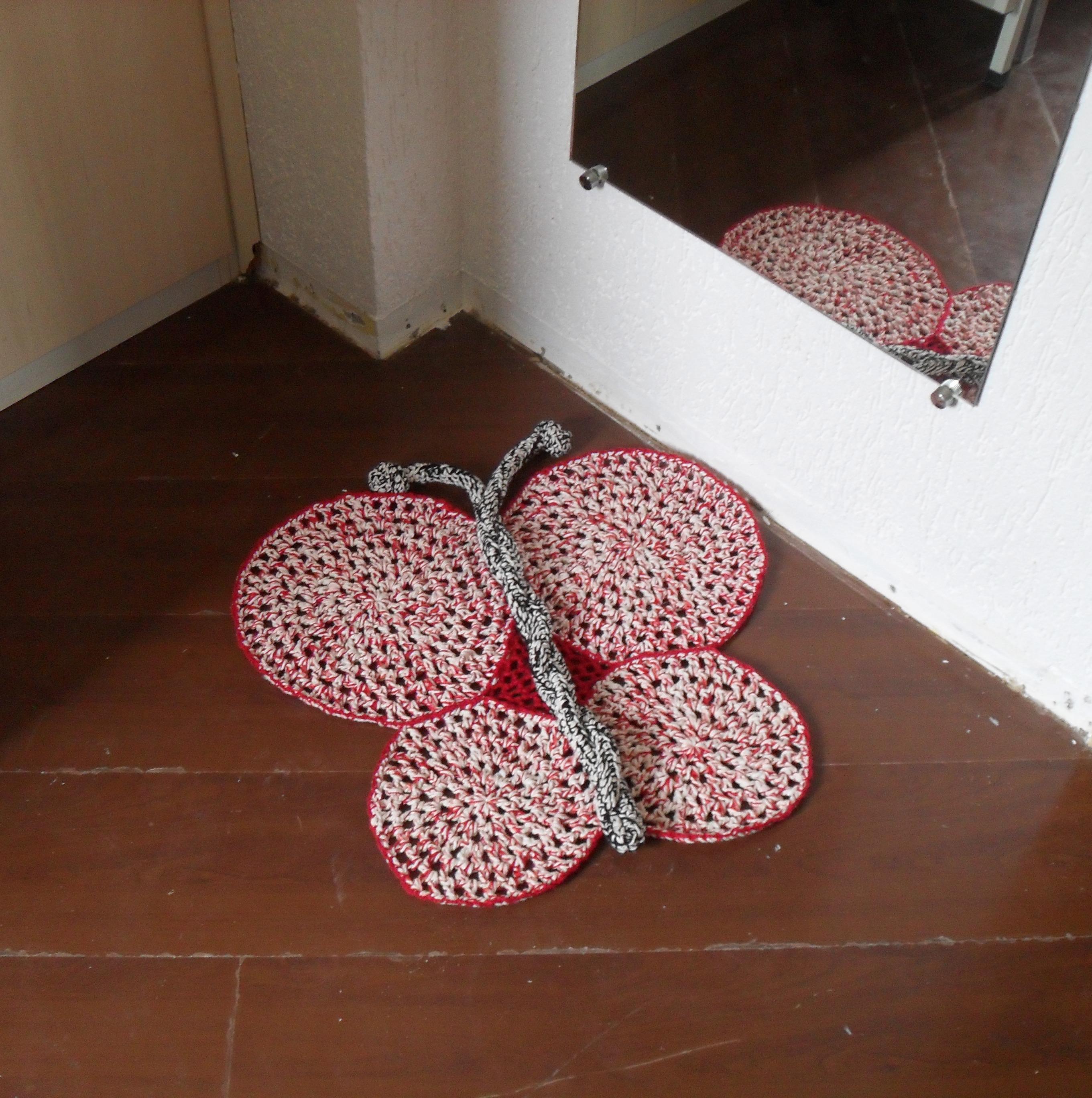Tapete infantil de crochê em barbante Tapetes Artesanais  ~ Tapetes Para Quarto Infantil De Barbante