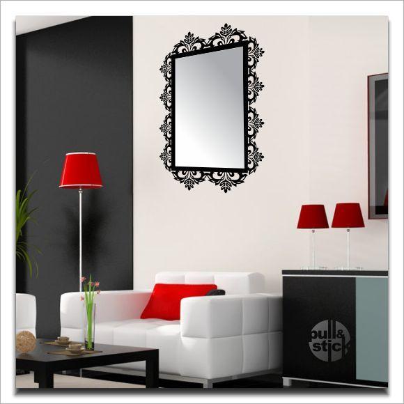 Aparador Tampo De Vidro Branco ~ Moldura de espelho PullStick Adesivos e Papelaria