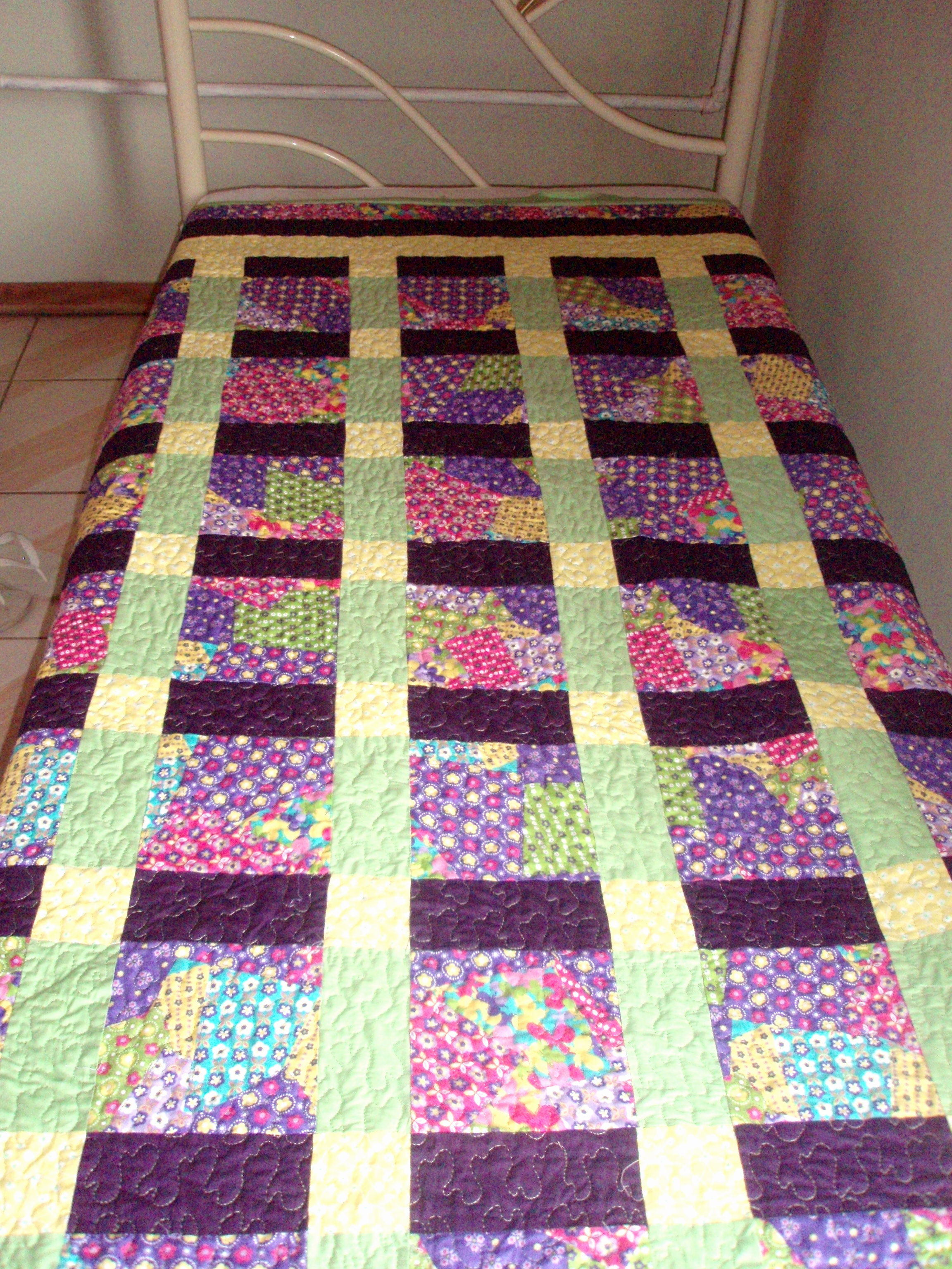Colcha patchwork nine patch solteiro loly cutrim elo7 - Colcha patchwork ...