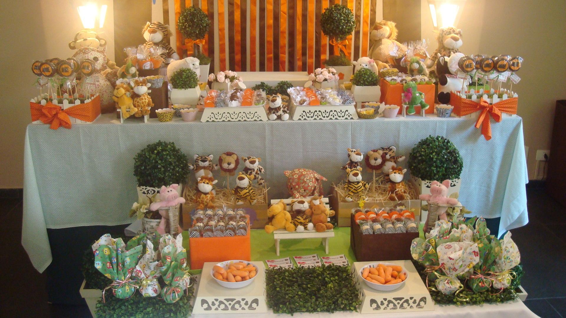 Decoraç u00e3o de mesa tema Zoo ou Bichos Caramelada Decorações Elo7 # Decoração Festa Infantil Zoologico