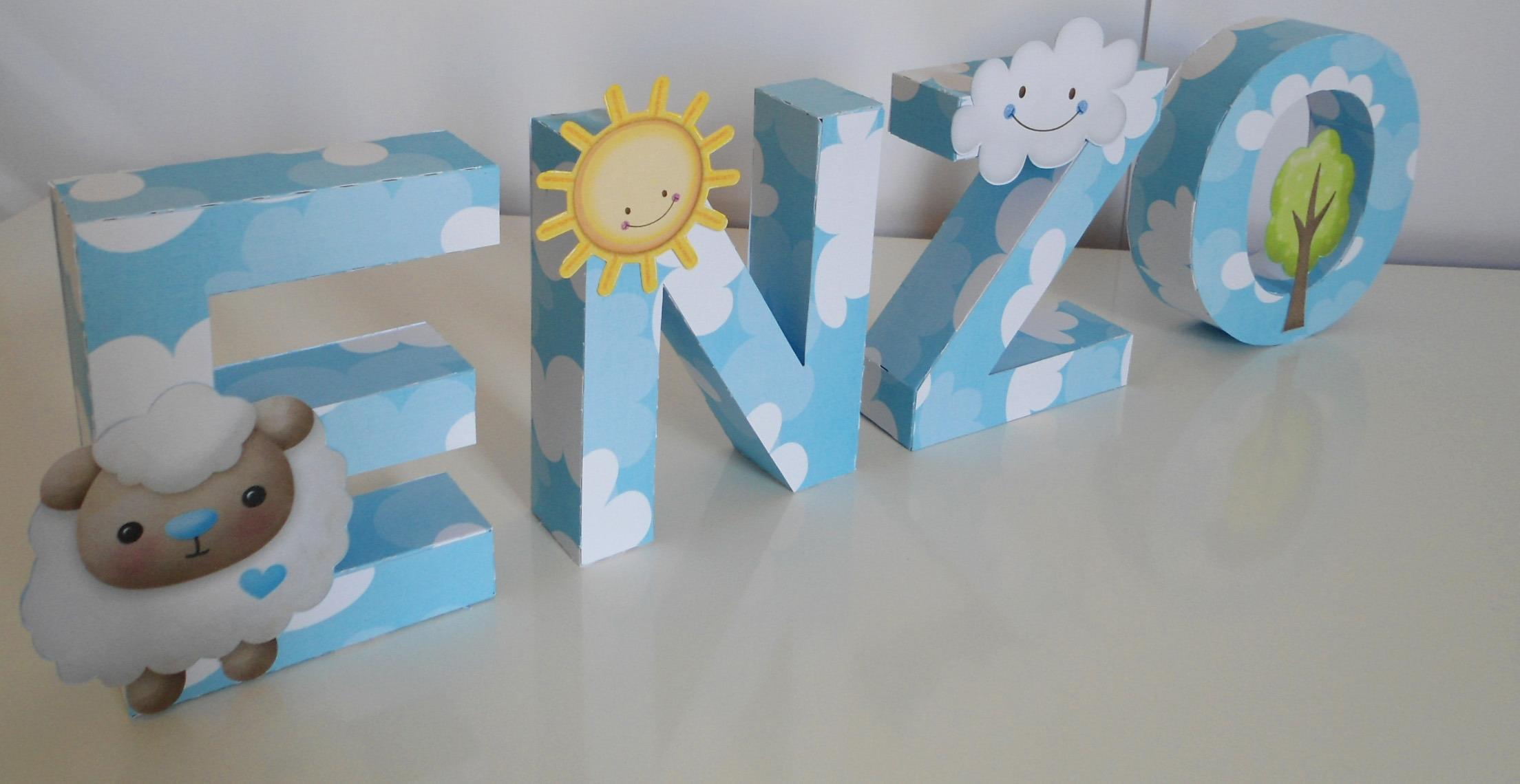 Letras decorativas carneirinho paperpop arte em papel - Letras decorativas pared ...