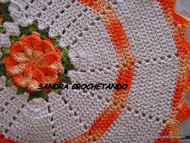 Rosa Para Tapete De Barbante : tapete em barbante 3 flor ref t189 tapete em barbante