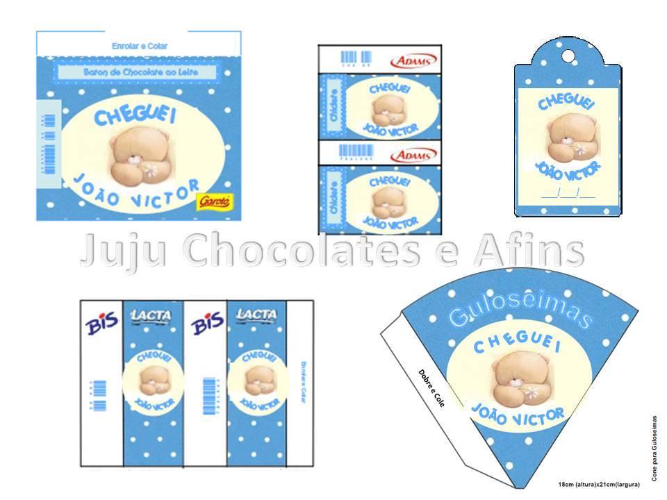 Kit para Imprimir Nascimento Menino Urso