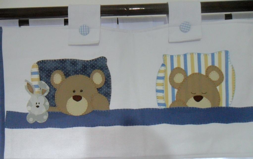 Cortina e Bandô de ursinho  Mil ideias arte em madeira & baby patch  Elo7
