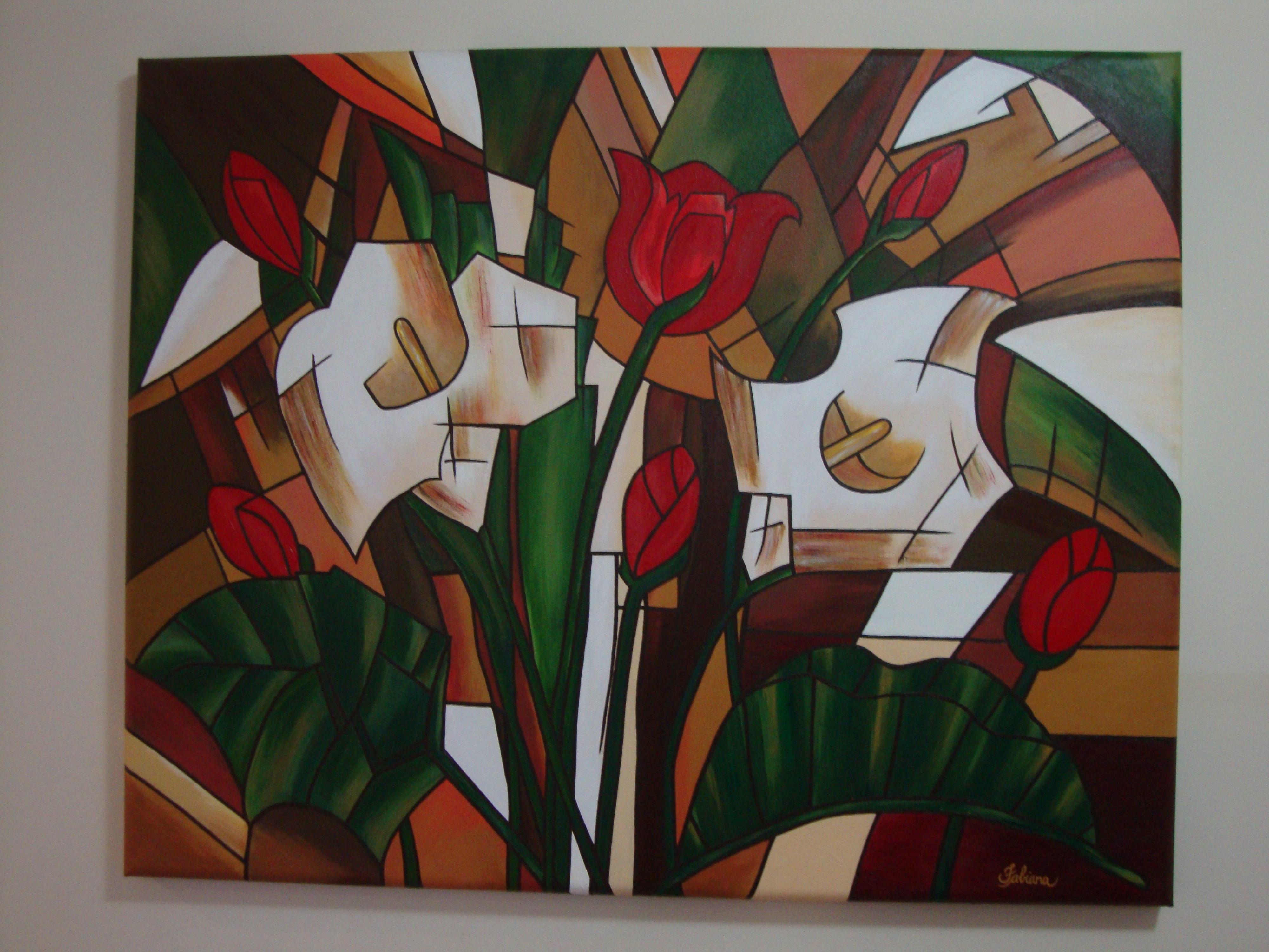 Copos de leite acr lico sobre tela allegra artes elo7 - Como pintar sobre tela ...