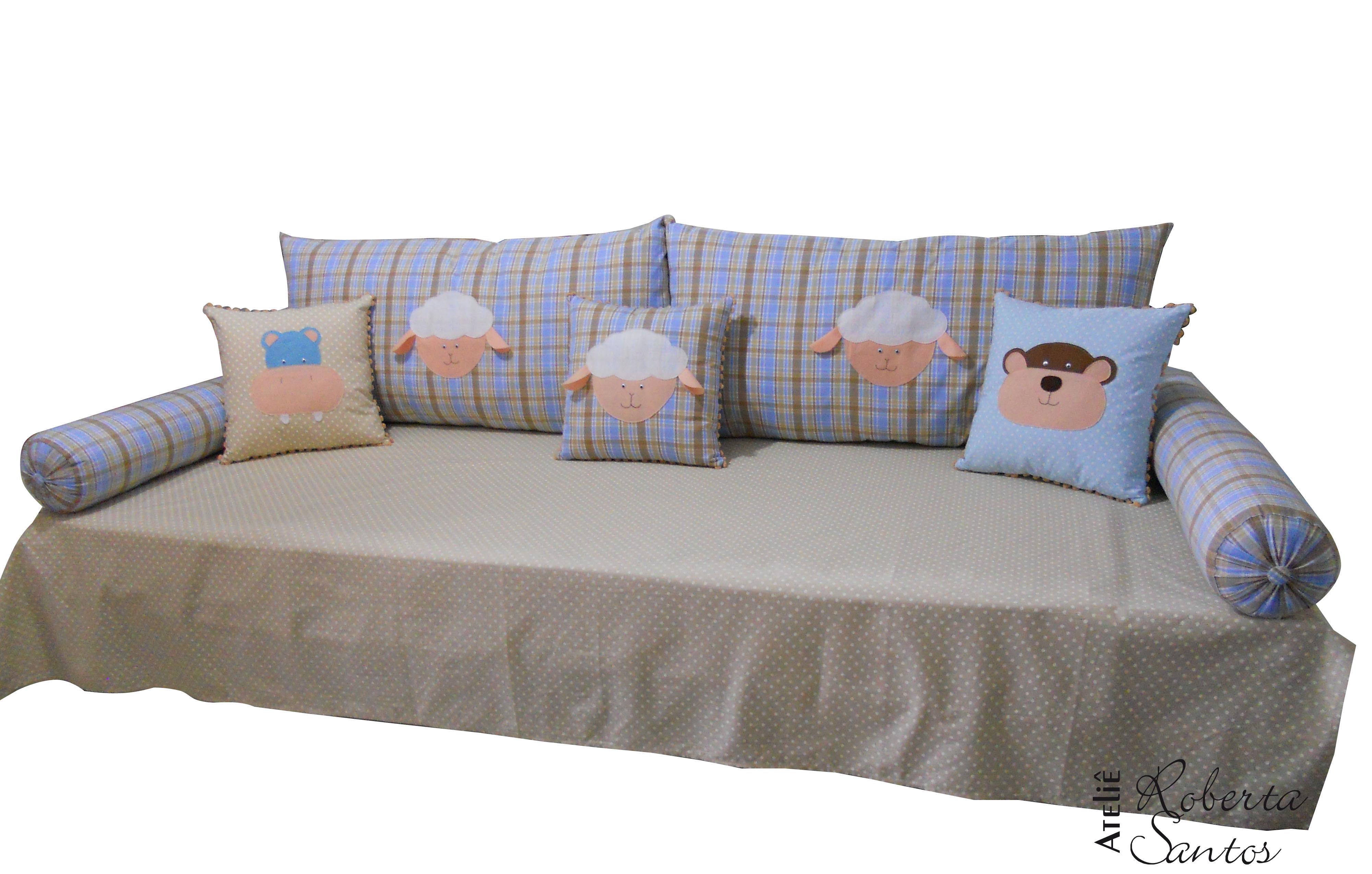 Kit para cama auxiliar safari ateli roberta santos elo7 for Cama original