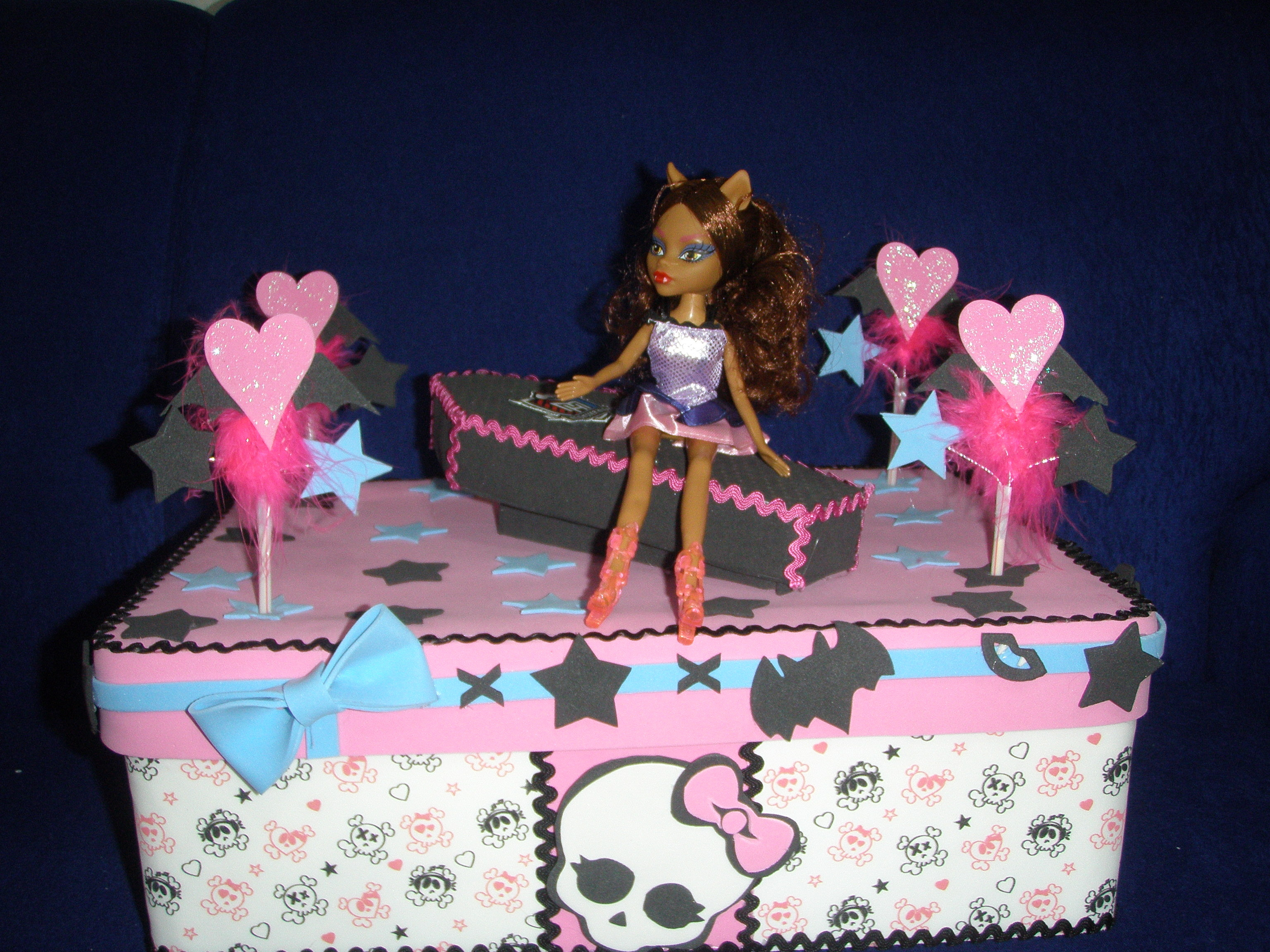 Bolo Monster High Caixa Bolo Monster High Caixa Bolo Monster High