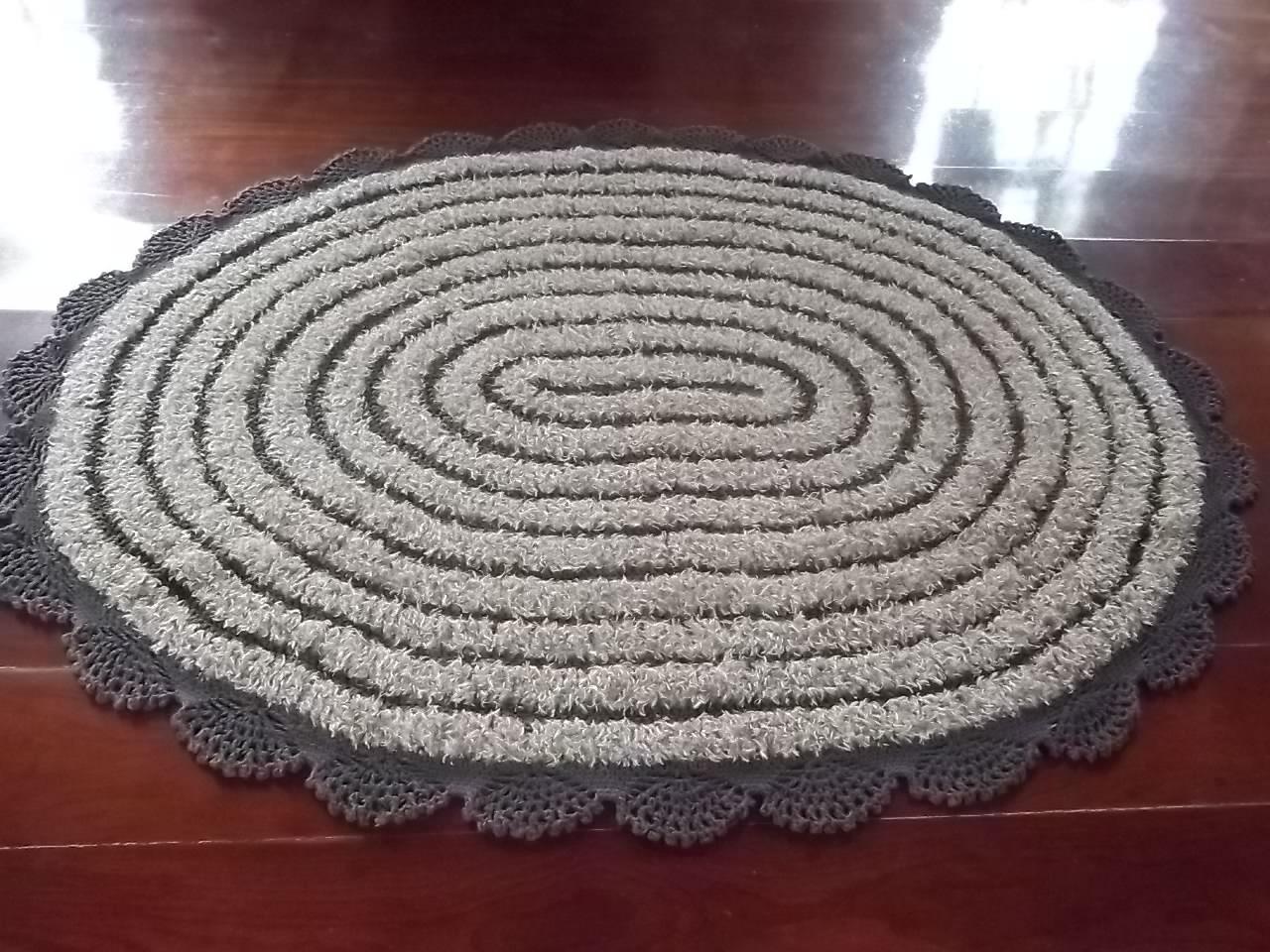 Tapete Oval De Cr ~ Tapete oval de sala em croch u00ea Espaço Arteval