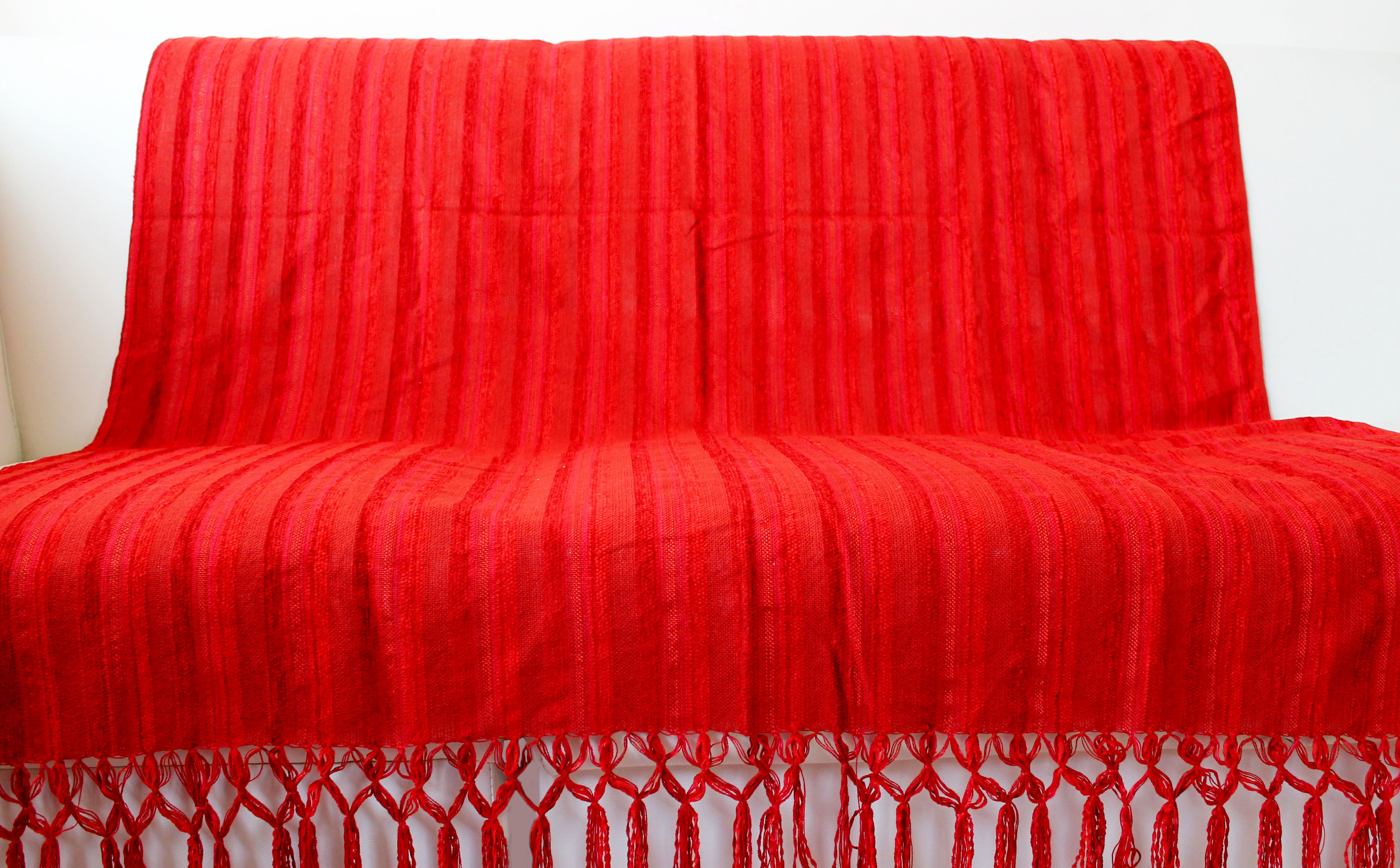Manta para sof gregoriana vermelha artesanato teares de - Manta de sofa ...