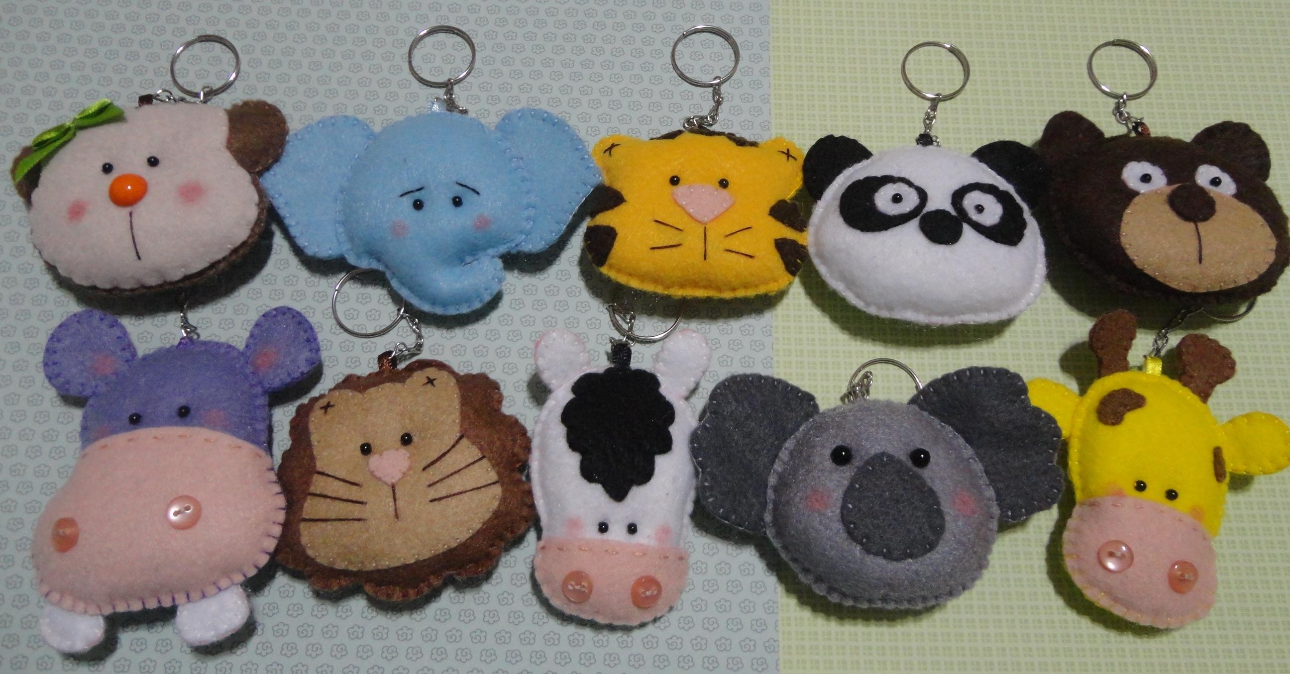 Safari - Panda em Feltro Lembrancinha Safari - Panda em Feltro