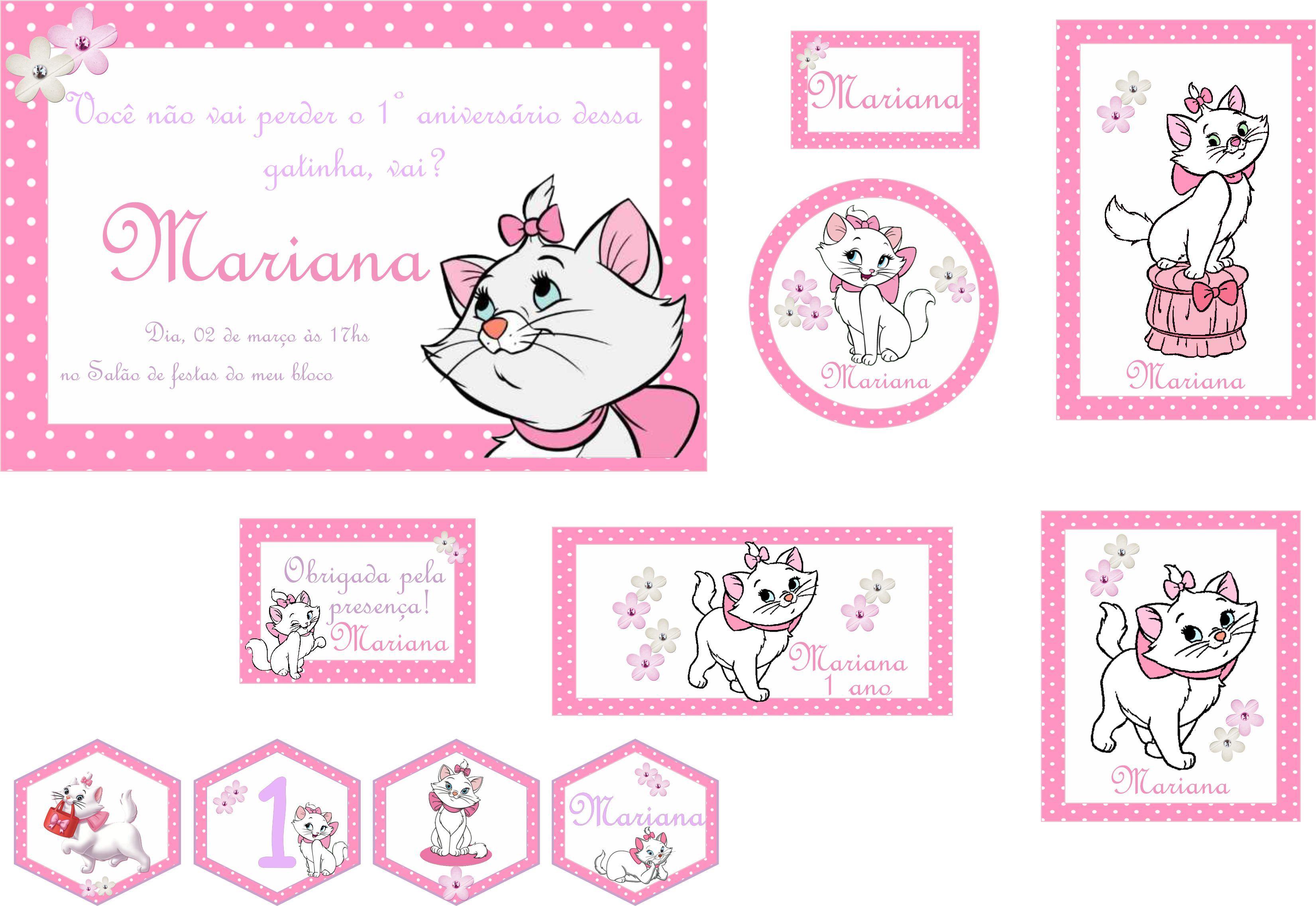 Festa Personalizada Gatinha Marie