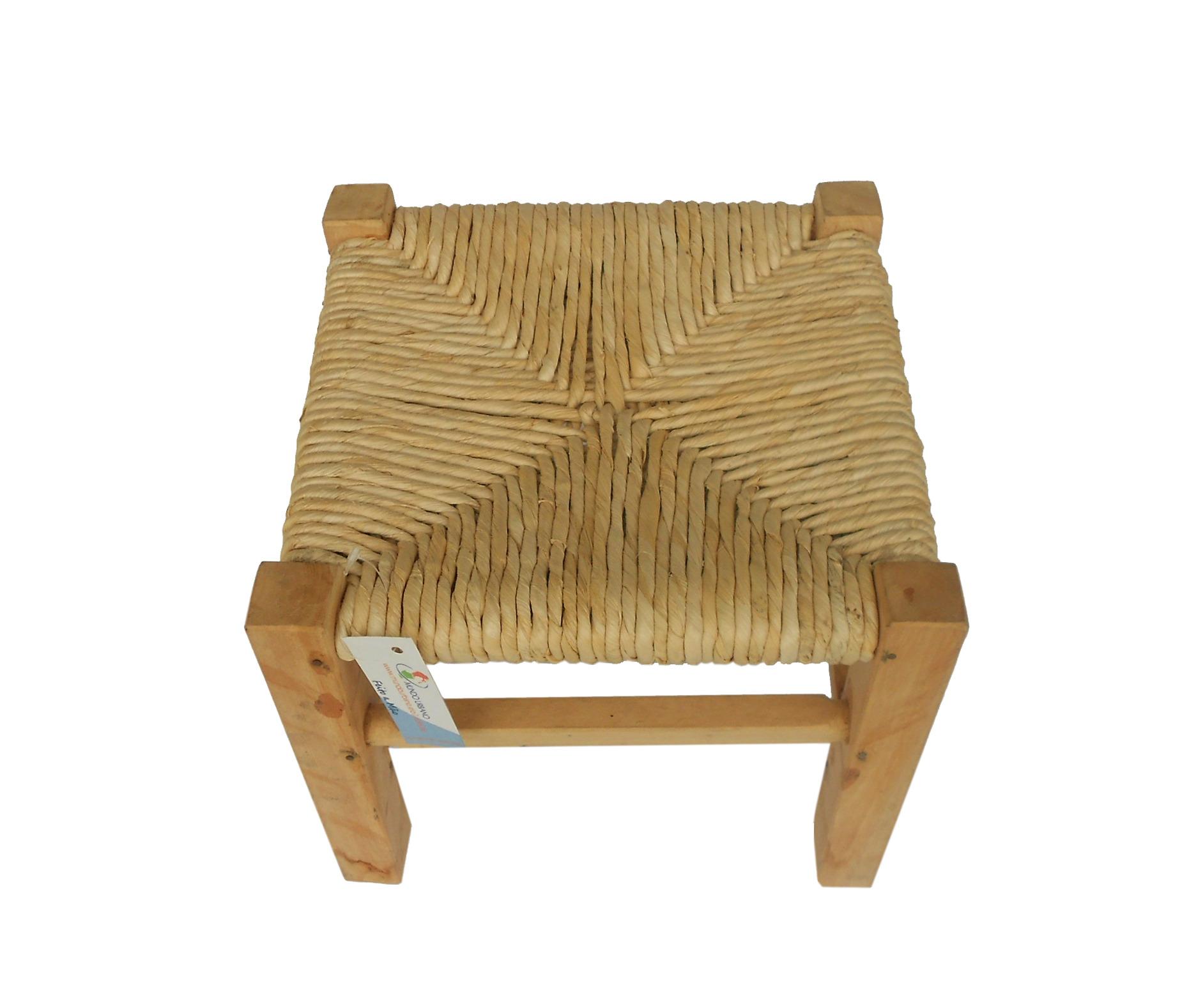 nt 32x32x51 banco madeira palha milho nt 32x32x51 banco madeira palha  #4C3518 1861x1578